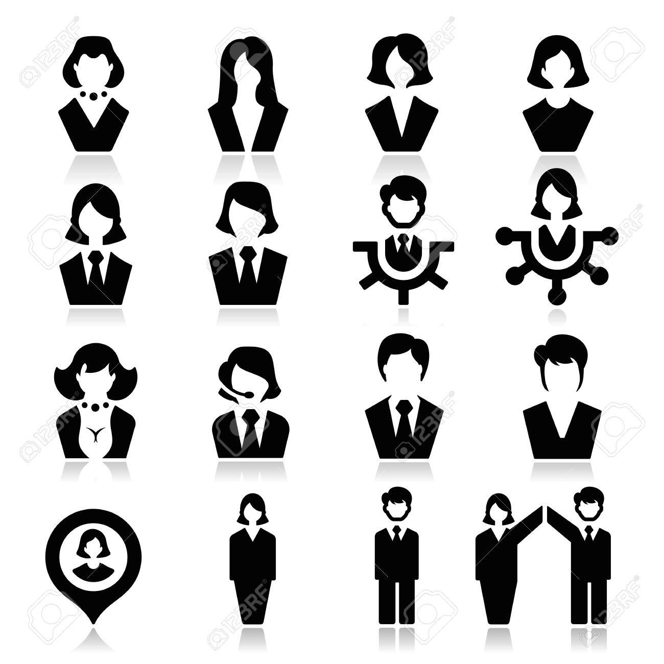 Businessman and businesswoman Icons - 23103910
