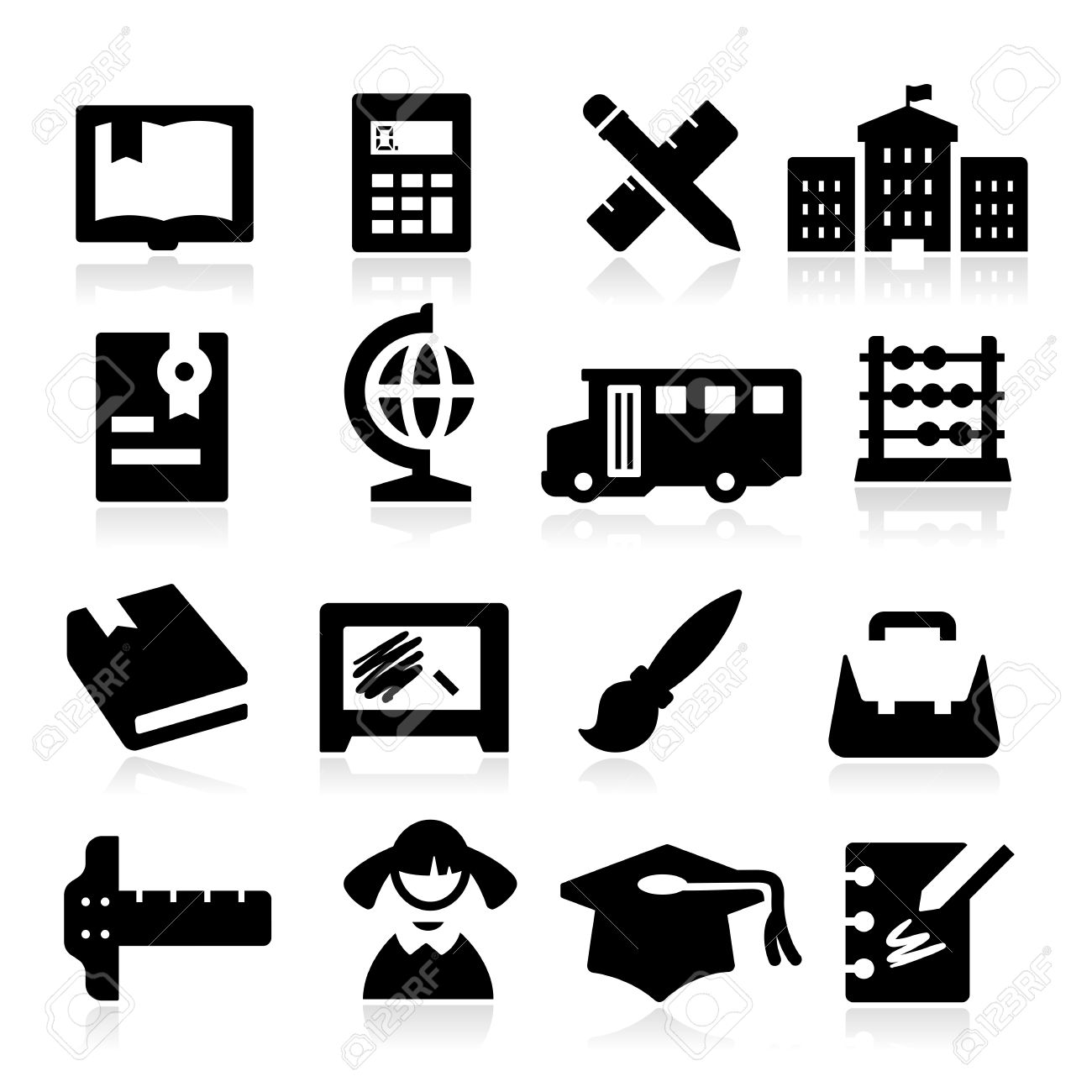 Education Icons two Stock Vector - 23103913