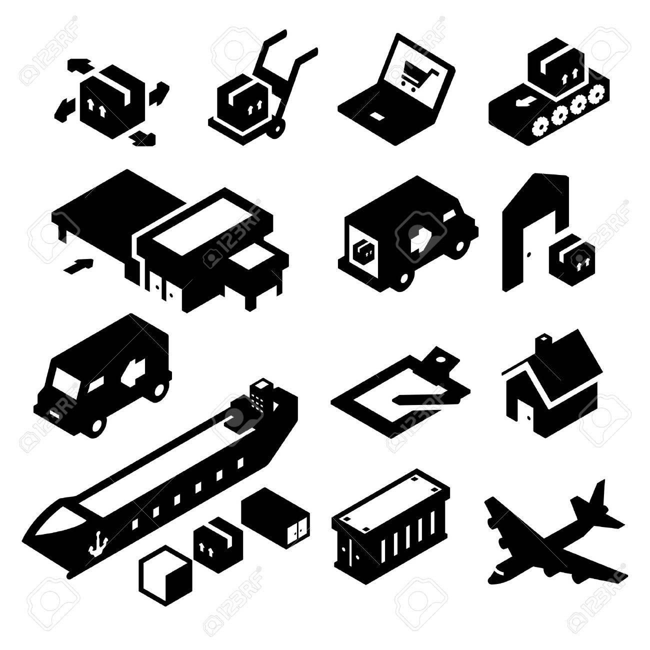 Shipping Icons two - 23103921