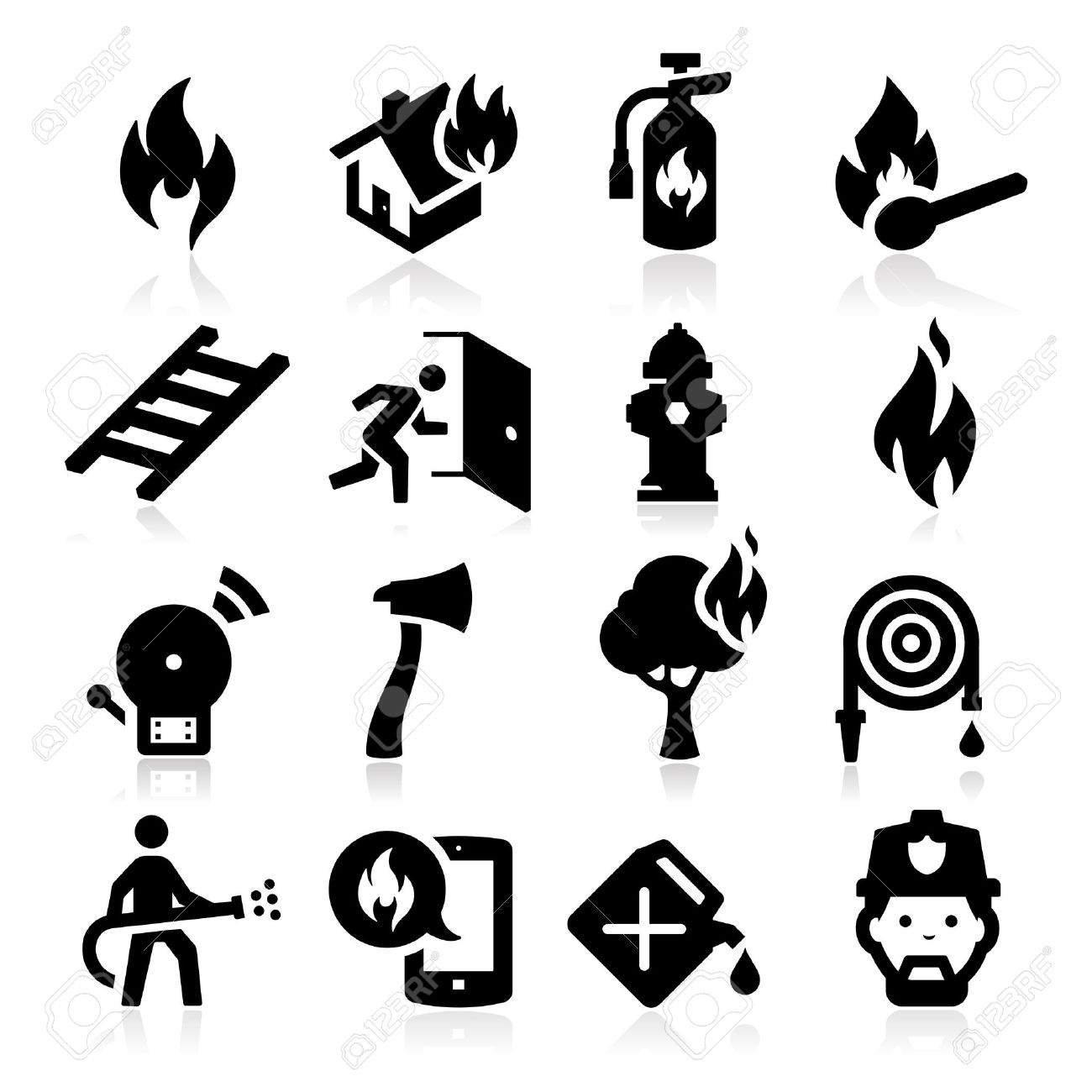 Firefighting icons - 23863792