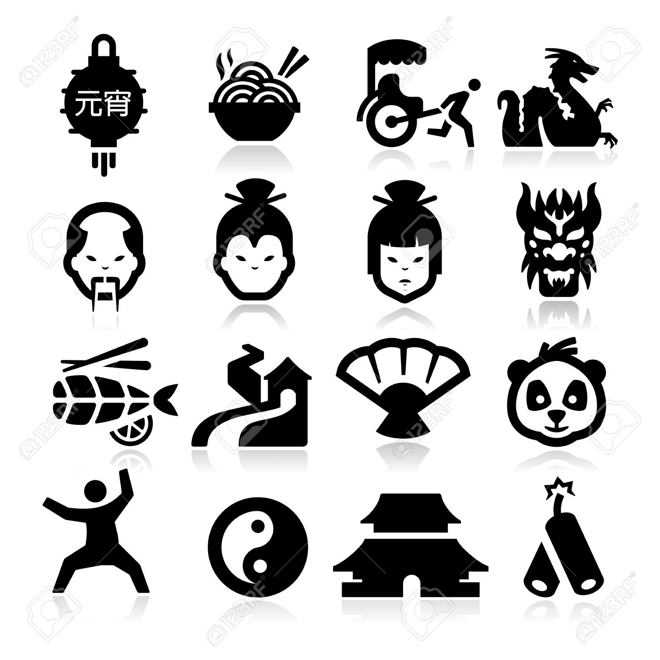 Chinese Icons - 25311402