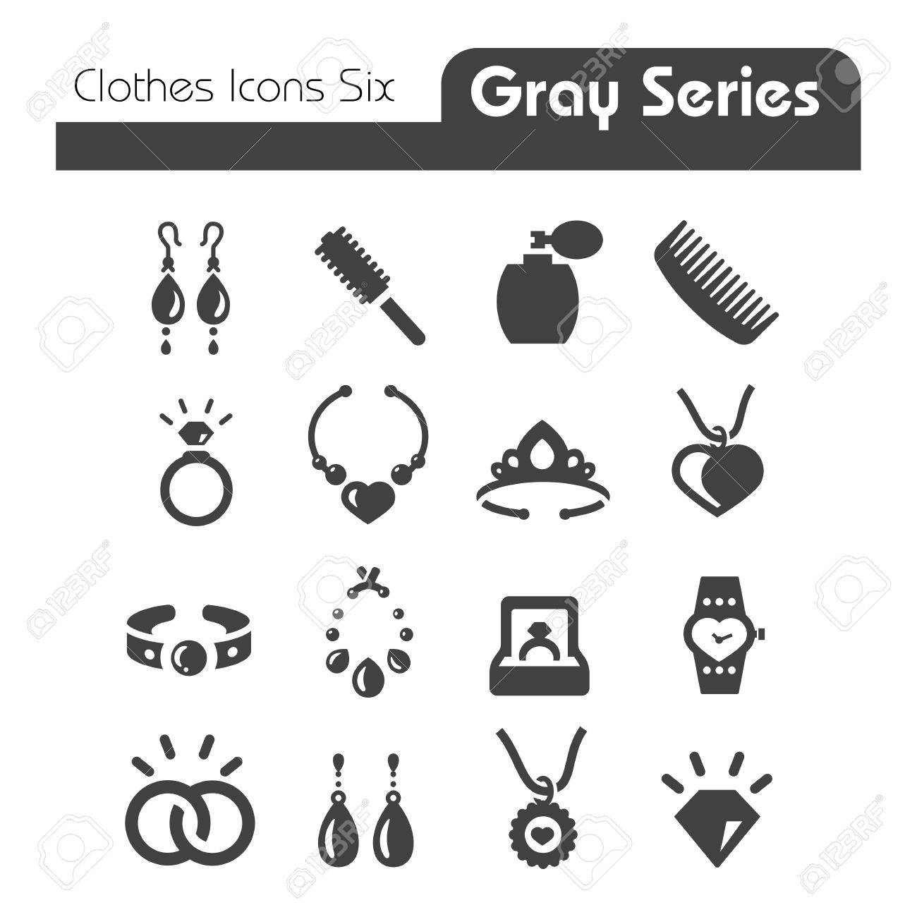 Clothes Icons Gray Series Six - 27357728