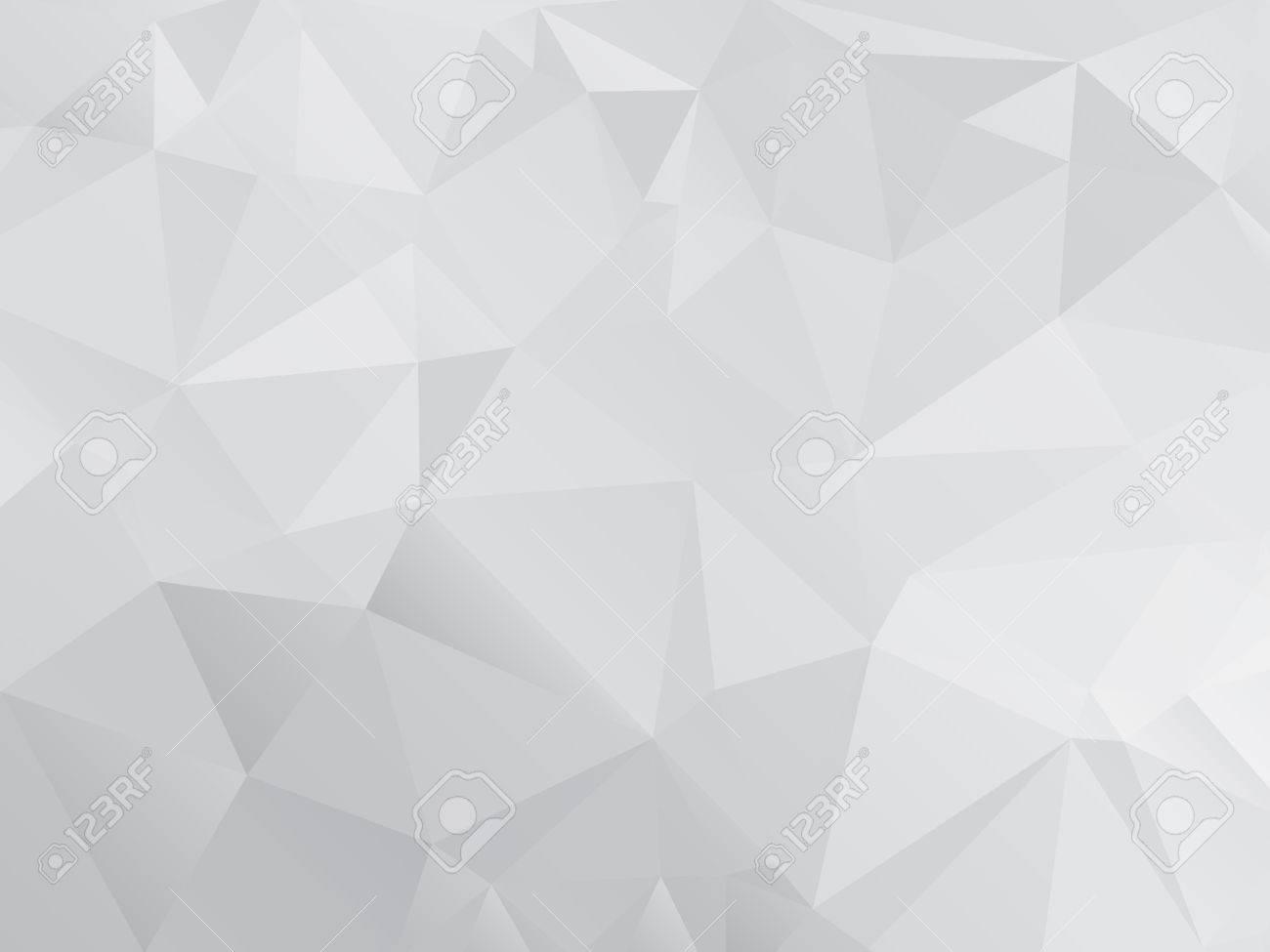 Gray Polygonal Mosaic Paper Background, Vector illustration - 37457528