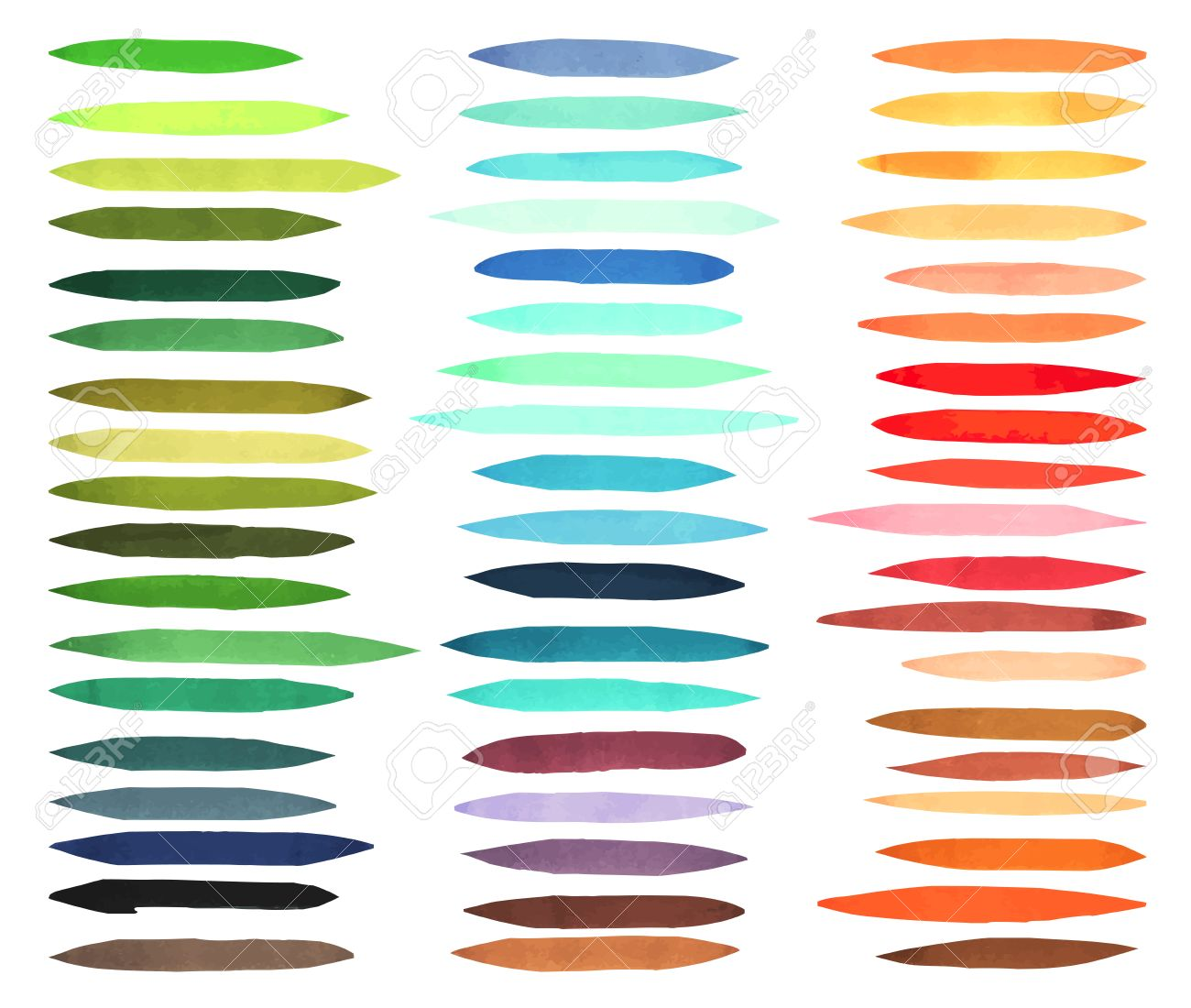 color stripes brushes drawn with japan markers stylish elements