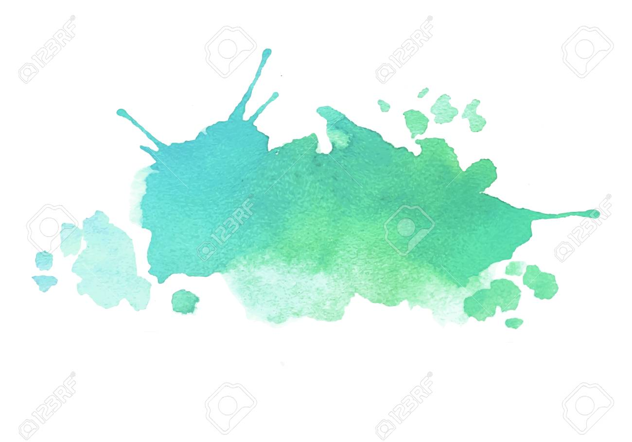 Blue Green Watercolor Splash Vector Painted Water Color Background Royalty Free Cliparts Vectors And Stock Illustration Image 87626827 Free for commercial use no attribution required high quality images. blue green watercolor splash vector painted water color background