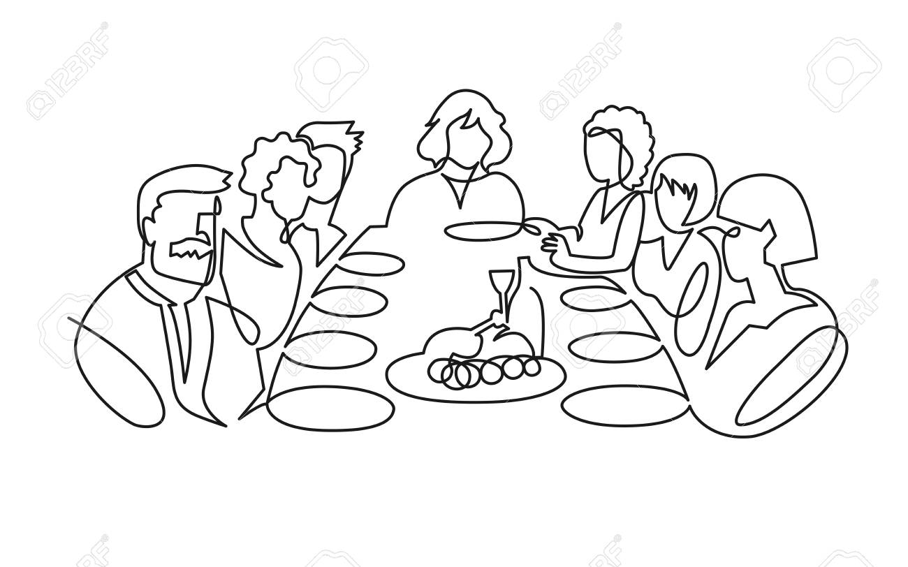 Image result for a drawing of a family sitting around