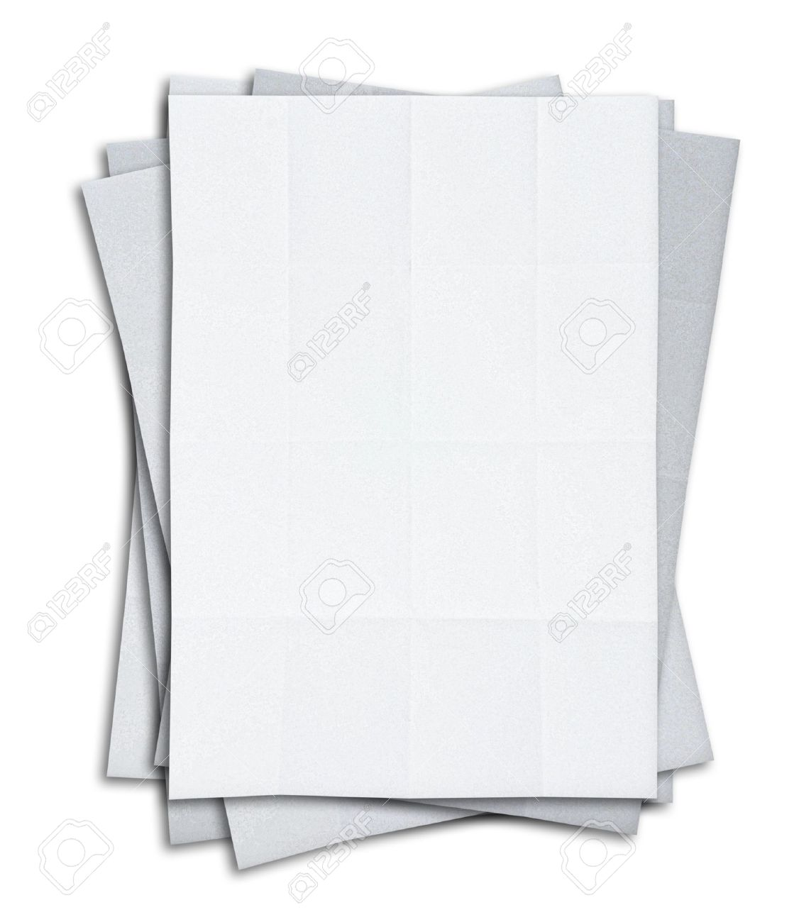 Stack Of Blank White Paper Isolated On White Background – Blank Paper Background