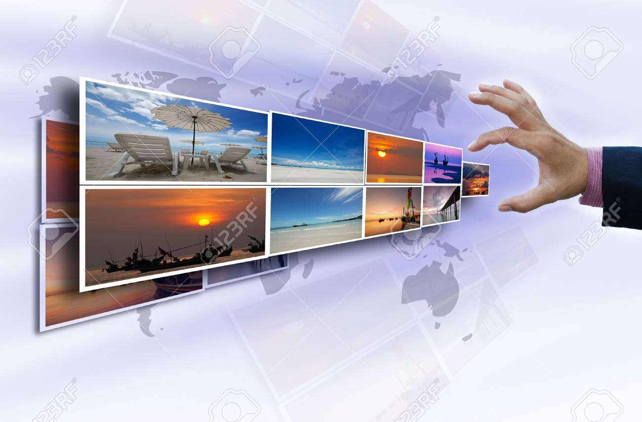 travel selection idea from landscape pictures. Stock Photo - 10035165