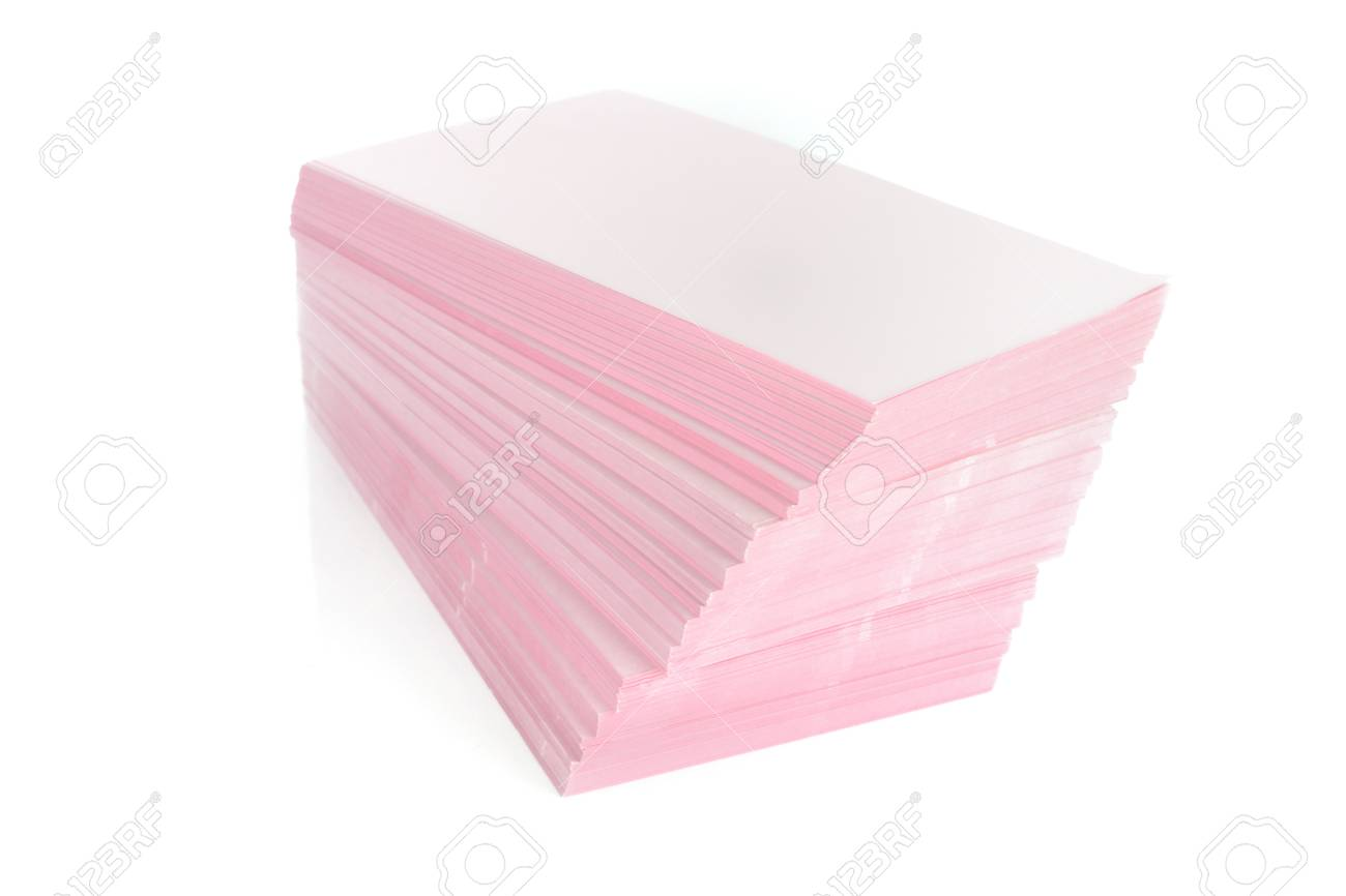 stack of paper on the white background. Stock Photo - 10751143