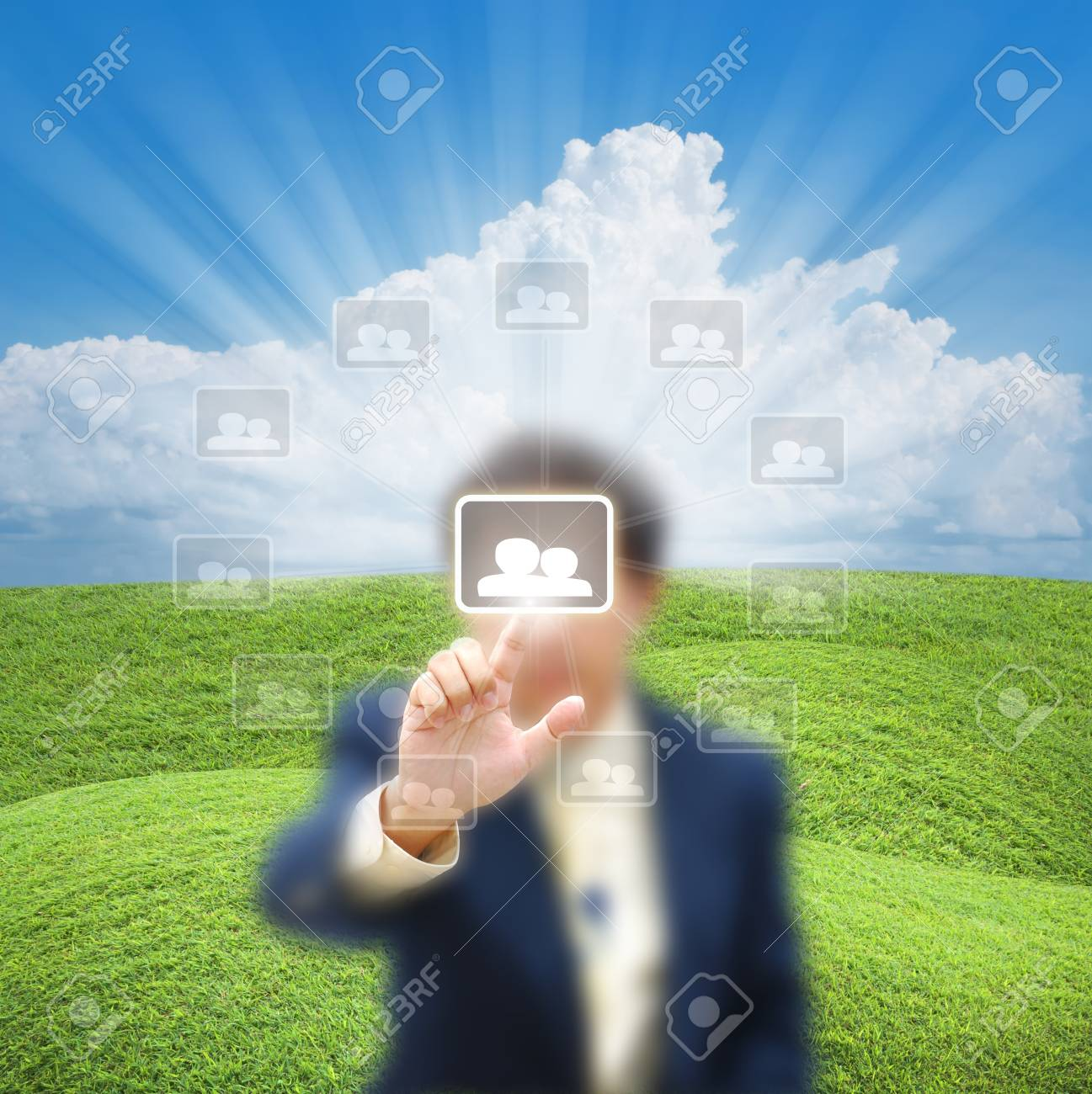 artwork for business idea from business person. Stock Photo - 10830493