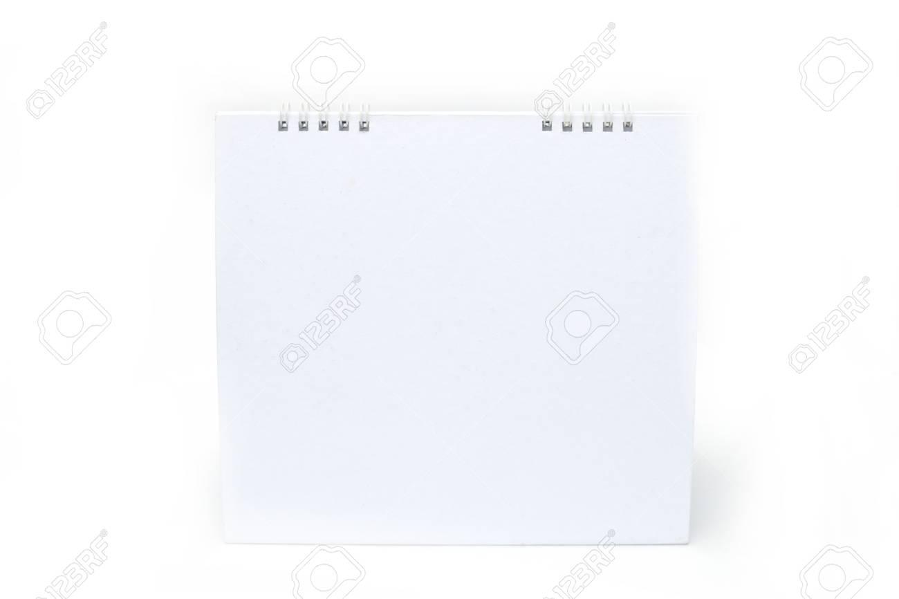 one blank white calendar isolated on white background. Stock Photo - 11146311