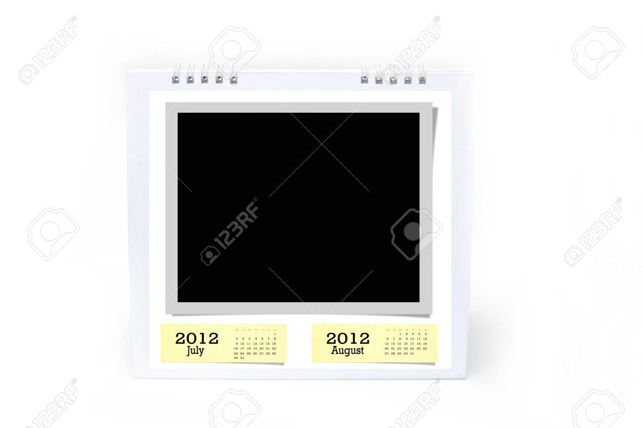 2012 table type calendar on white background. Stock Photo - 11284524