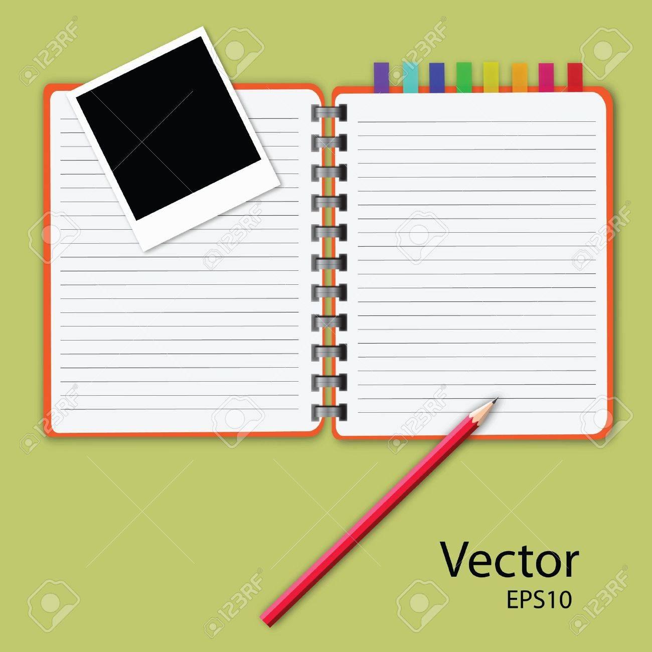 vector of blank notepad. Stock Vector - 11413666