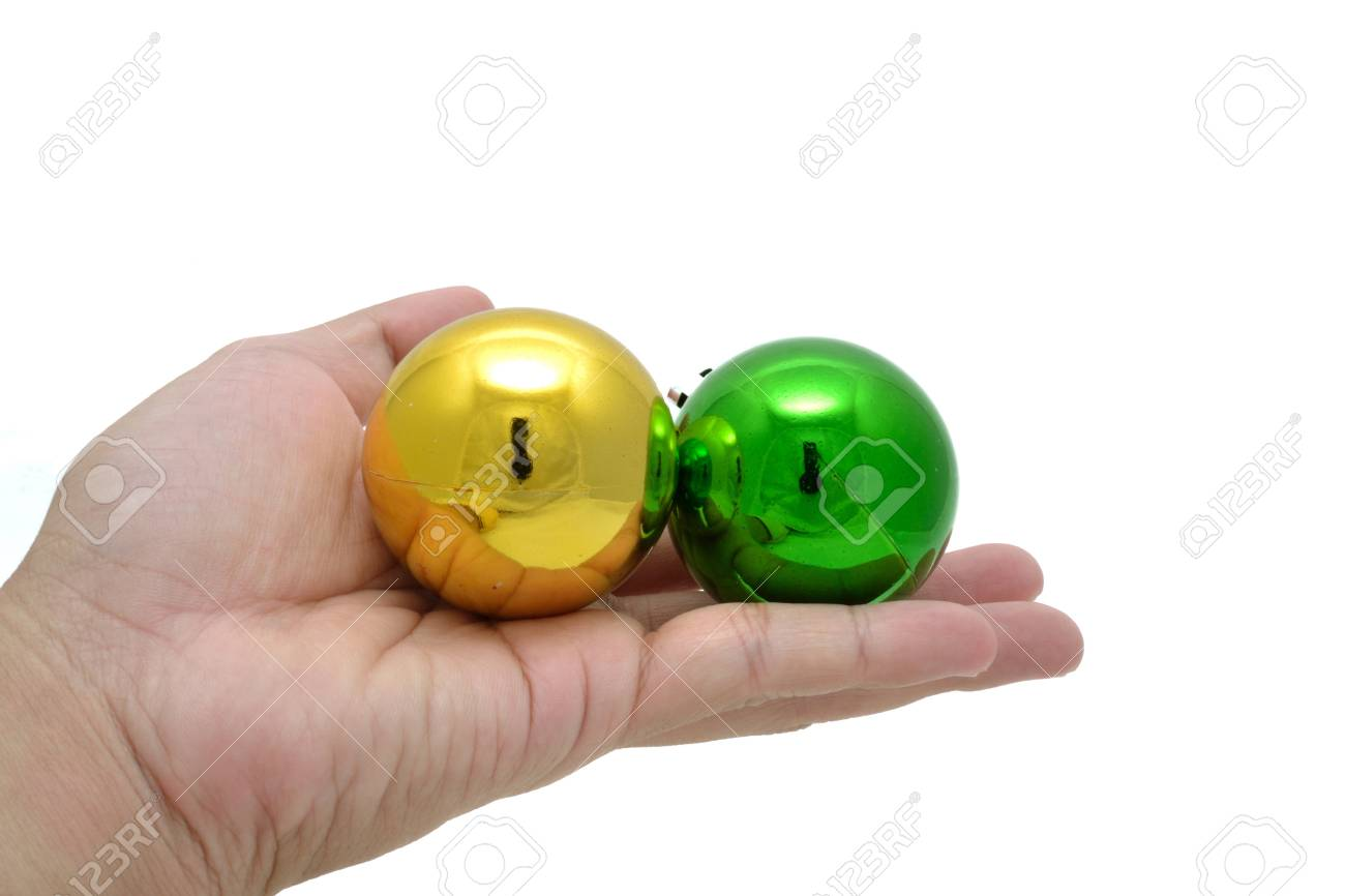 Color decoration balls on white background. Stock Photo - 11676417
