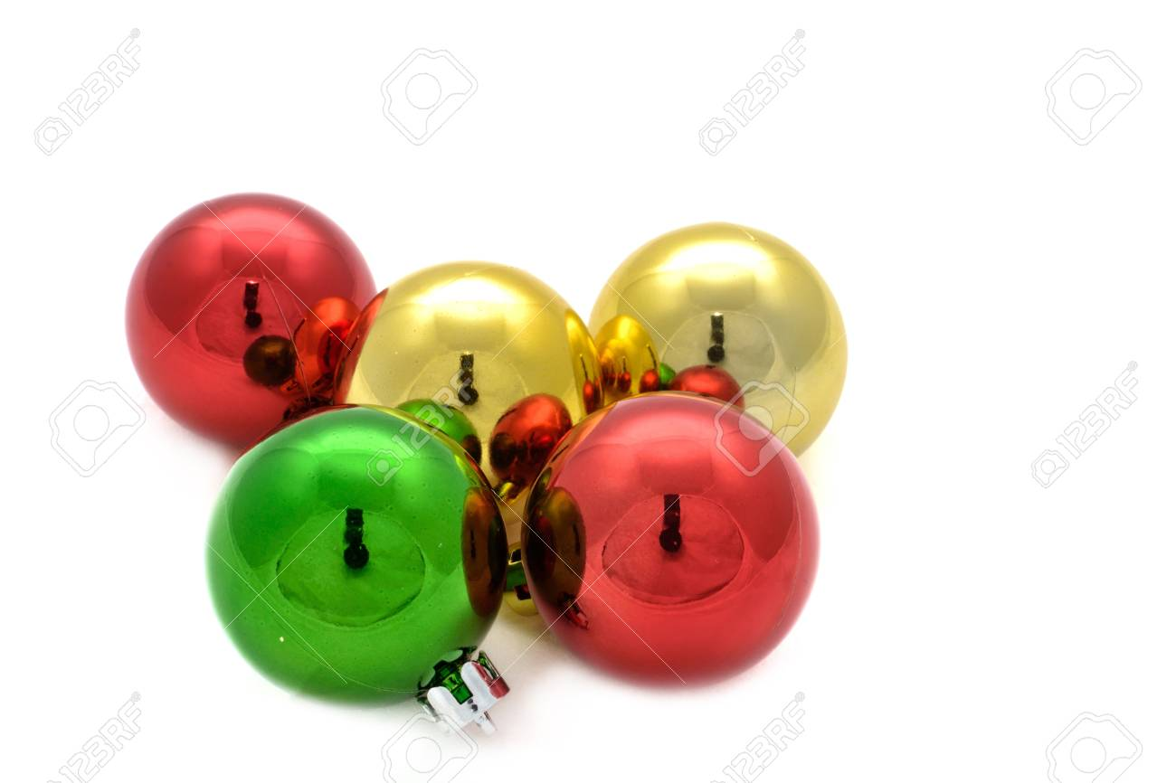Color decoration balls on white background. Stock Photo - 11676455