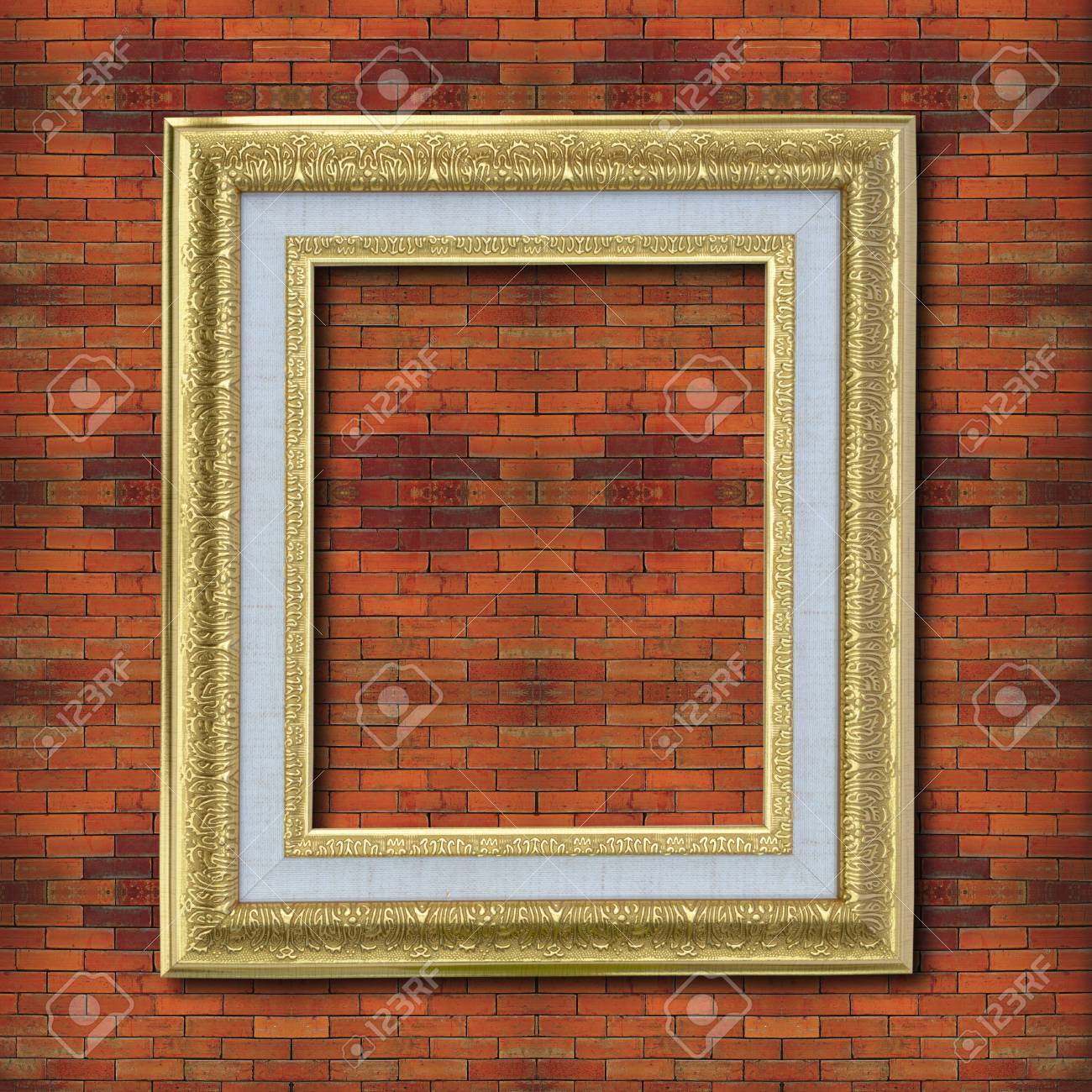 Photo frame on old brick wall. Stock Photo - 12001003