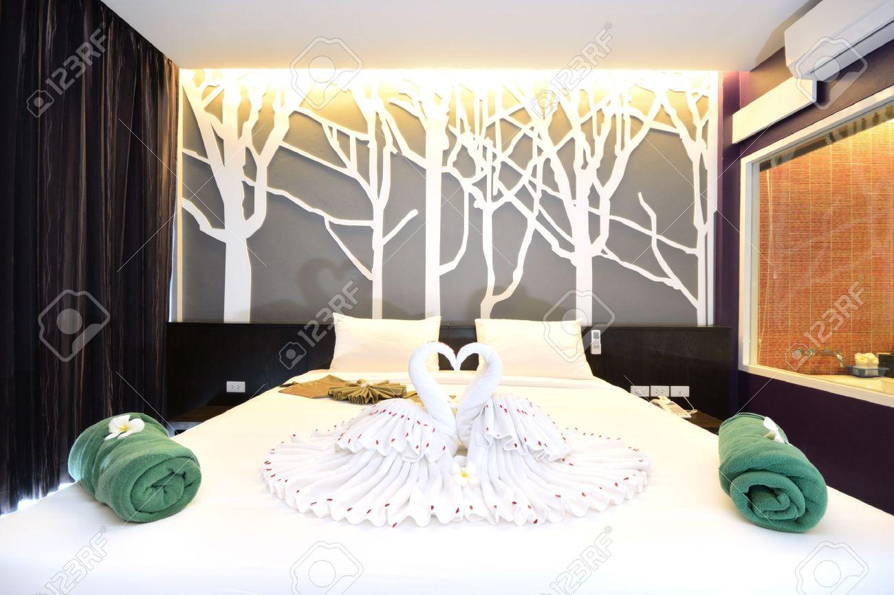 Luxury bedroom interiors design for modern life style. Stock Photo - 13422608