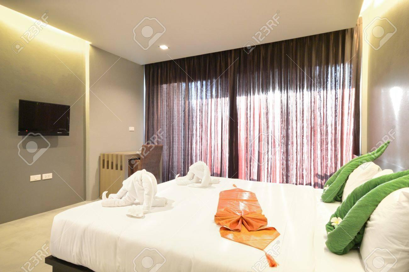Luxury bedroom interiors design for modern life style. Stock Photo - 13495870