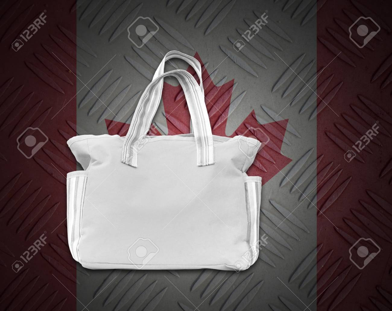 Environment concept from white cloth bag on background. Stock Photo - 15273253