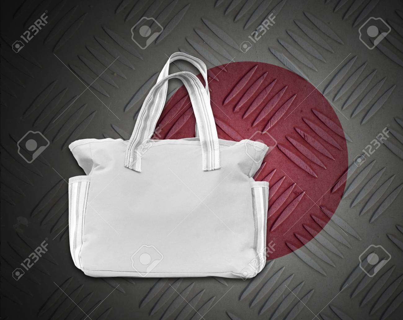 Environment concept from white cloth bag on background. Stock Photo - 15273254