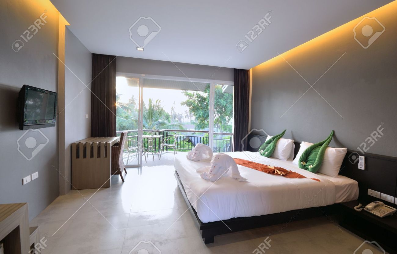 Luxury Bedroom Interior Design For Modern Life Style. Stock Photo ...