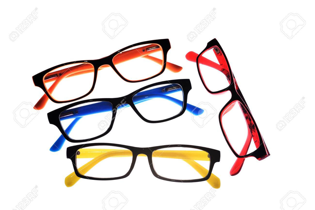 Eye Glasses Frames On White Background. Stock Photo, Picture And ...
