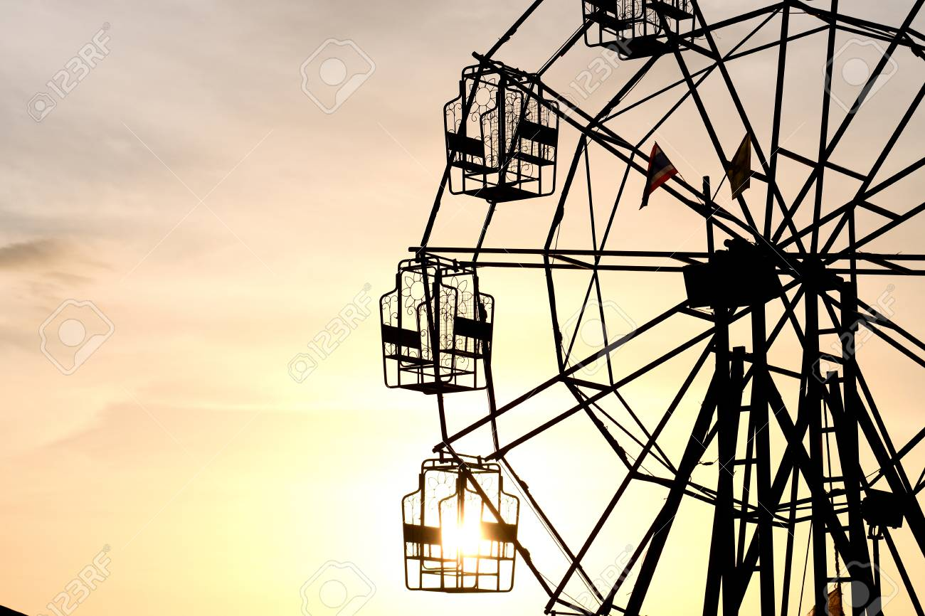 Thai Rural Ferris Wheel Silhouette At Sunset Stock Photo Picture And Royalty Free Image Image 81288806