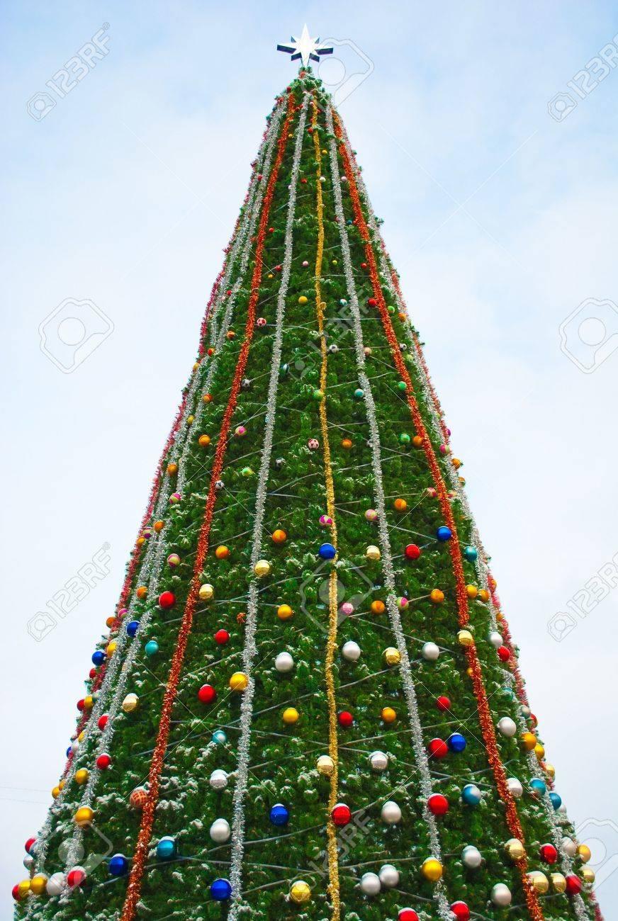 Big Christmas Trees Part - 36: Big Christmas Tree In Sevastopol Stock Photo - 7021497