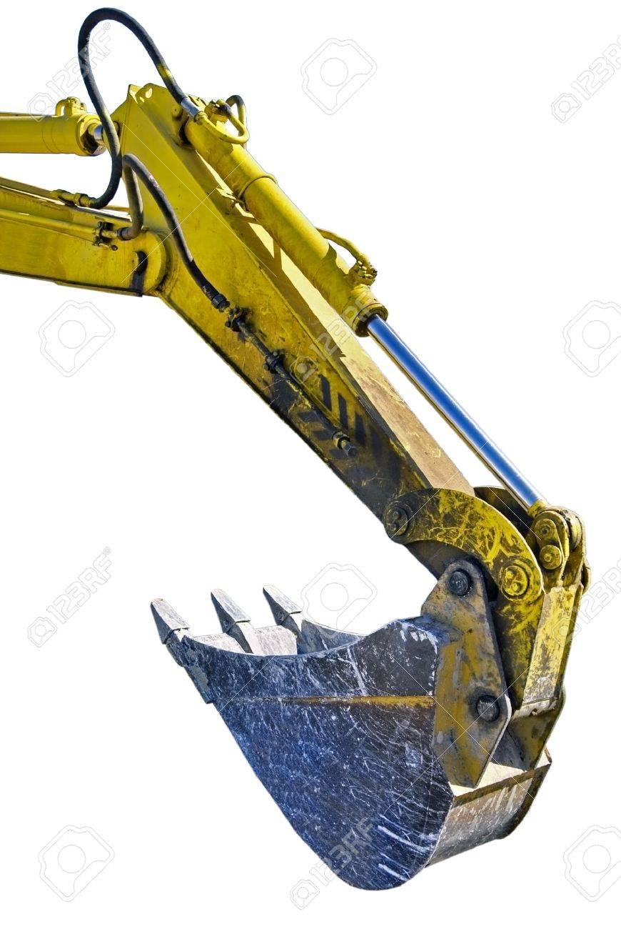 Excavator arm on white background Stock Photo - 10787449