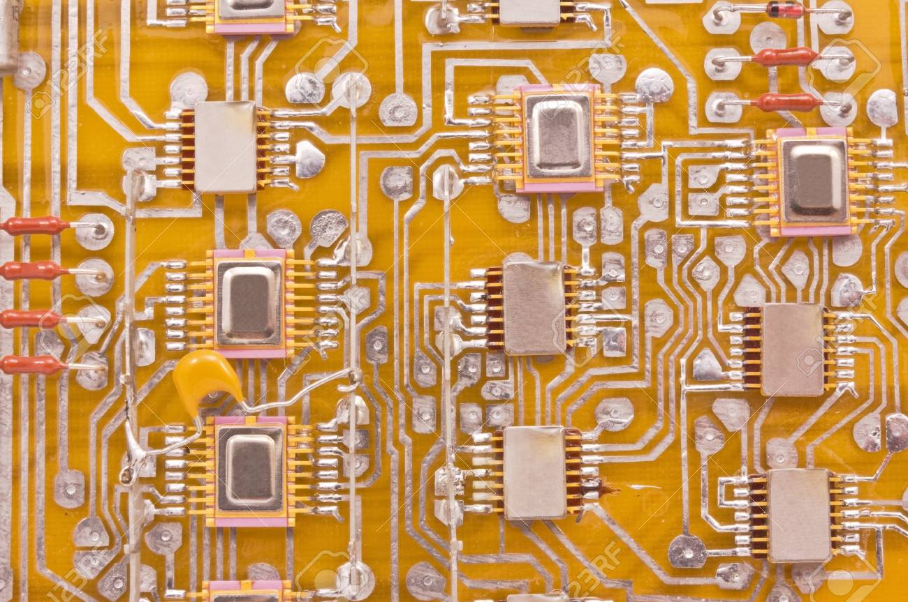 Closeup Of Electronic Circuit Board Stock Photo Picture And Royalty Free Photography 19912389