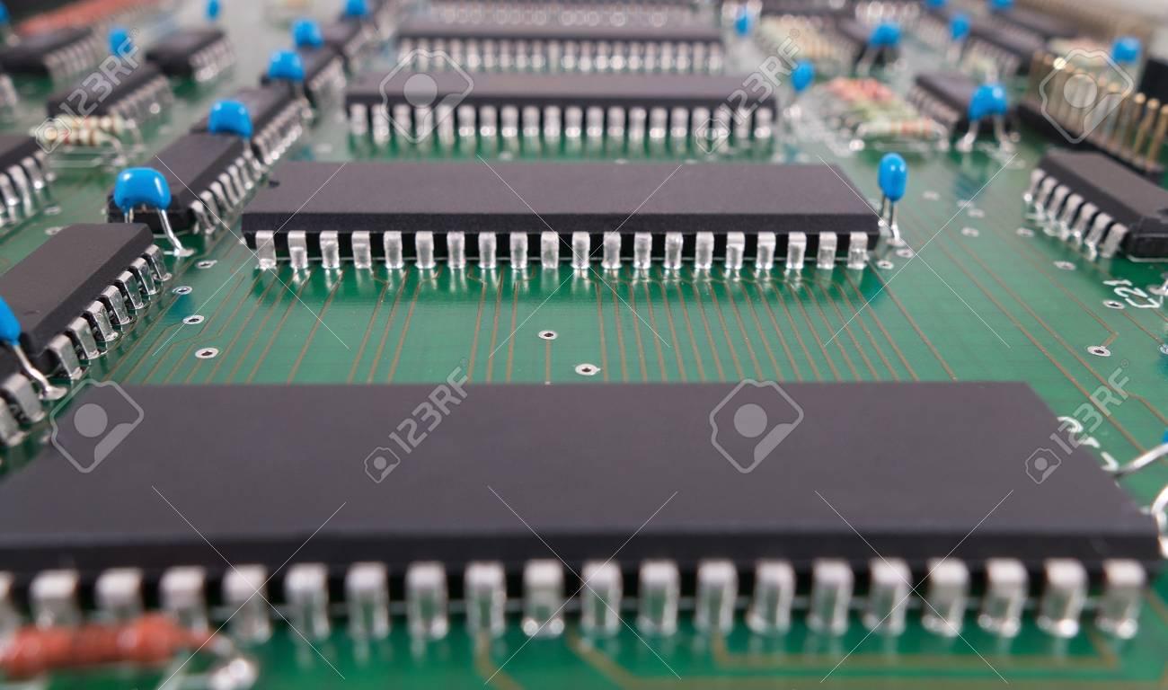 Circuito Eletronico : Closeup da placa de circuito eletrônico fotos retratos imágenes