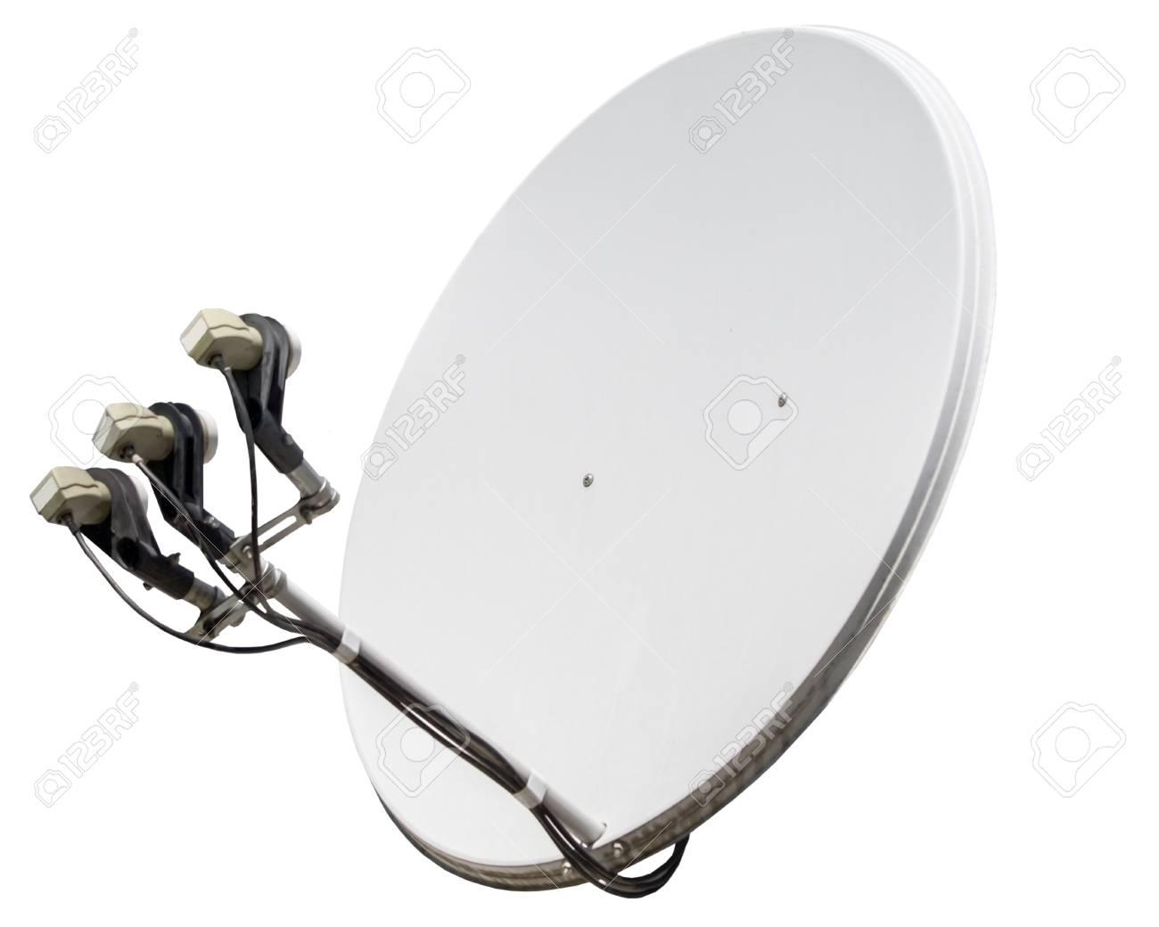 antenne parabolique isolé sur fond blanc banque d'images et photos