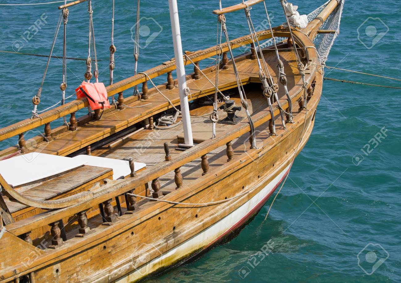 Beautiful Old Wooden Sailing Vessel