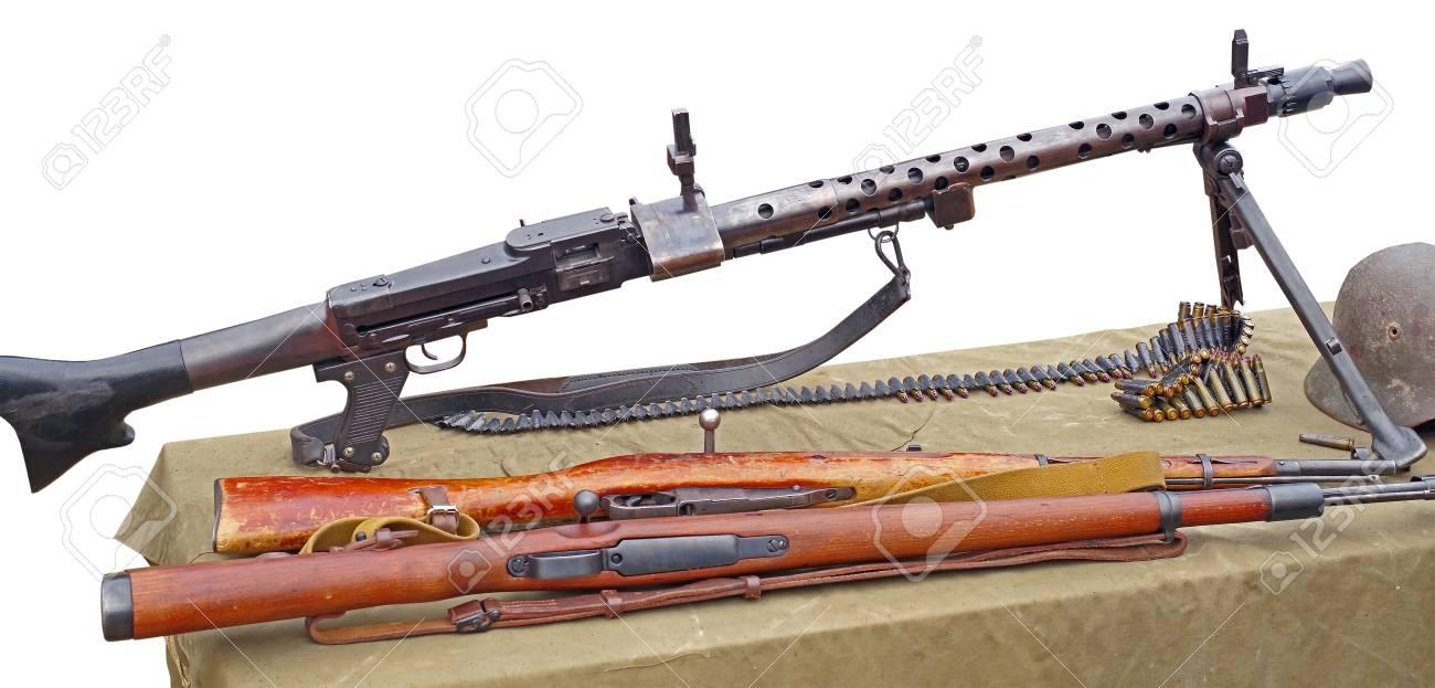 German military ammunition - machine gun and carabines of World