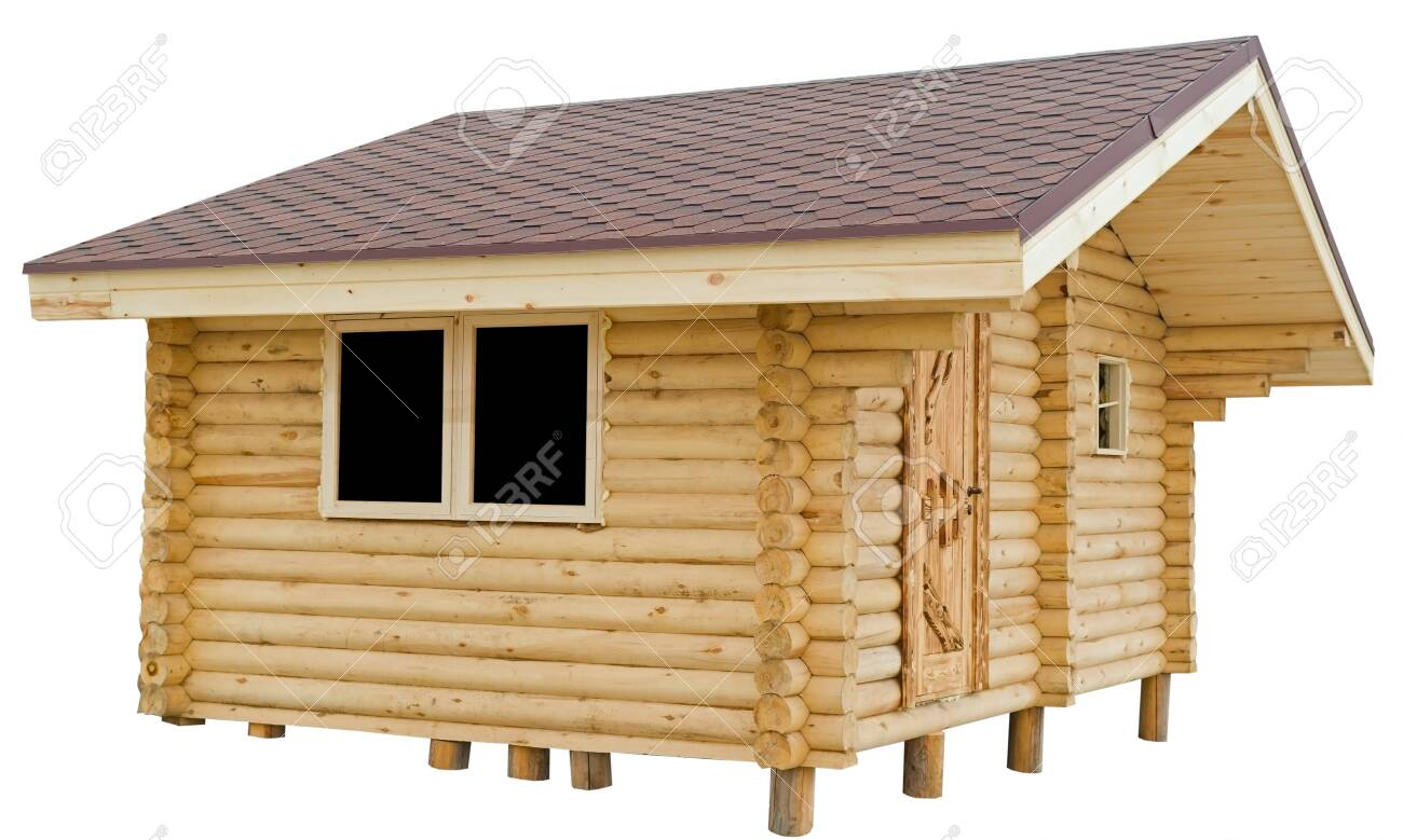 Small Wooden House On White Background Stock Photo Picture And Royalty Free Image Image 121537892