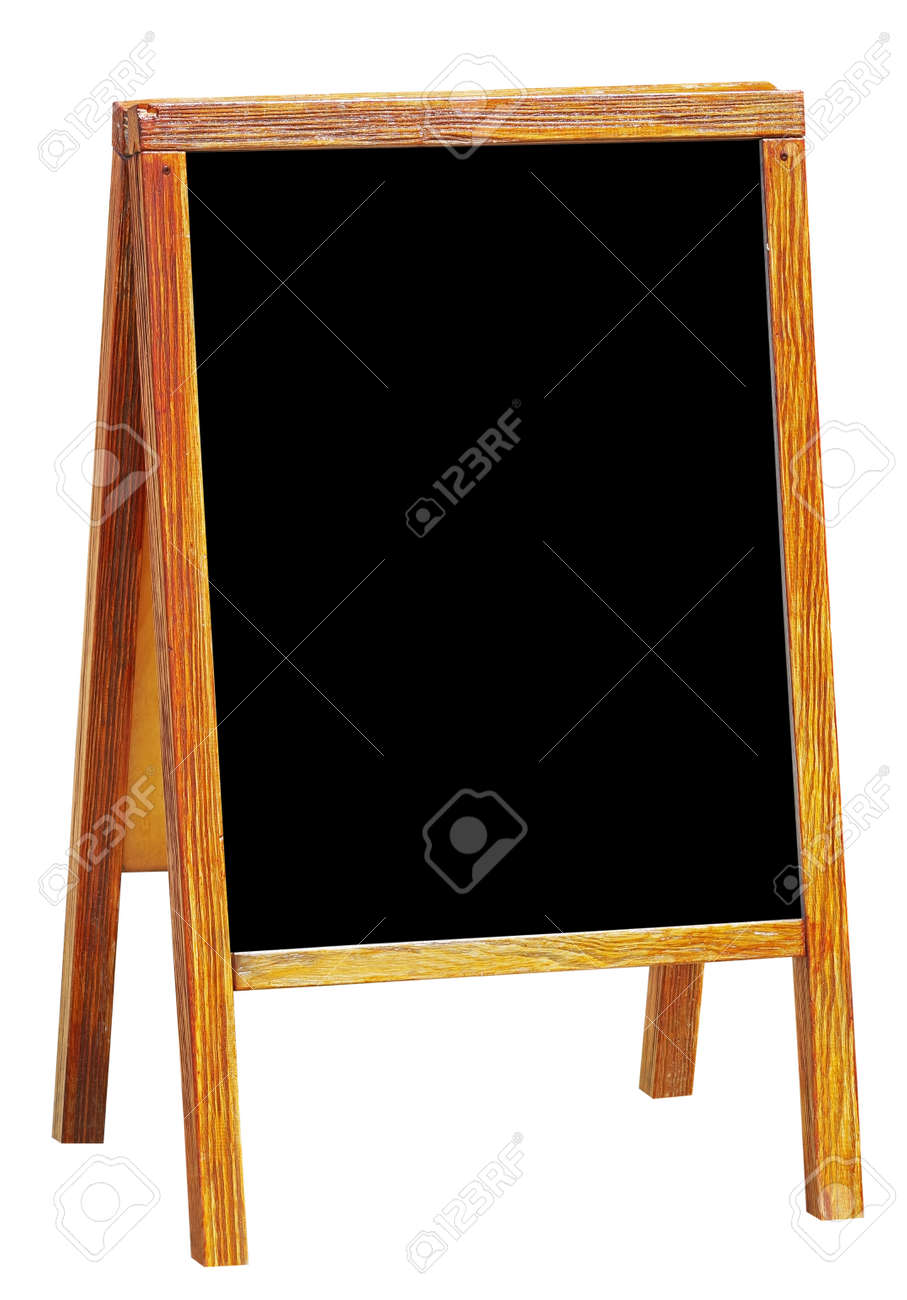 sandwich board with chalkboard area blank for insertion of your message - 169763477