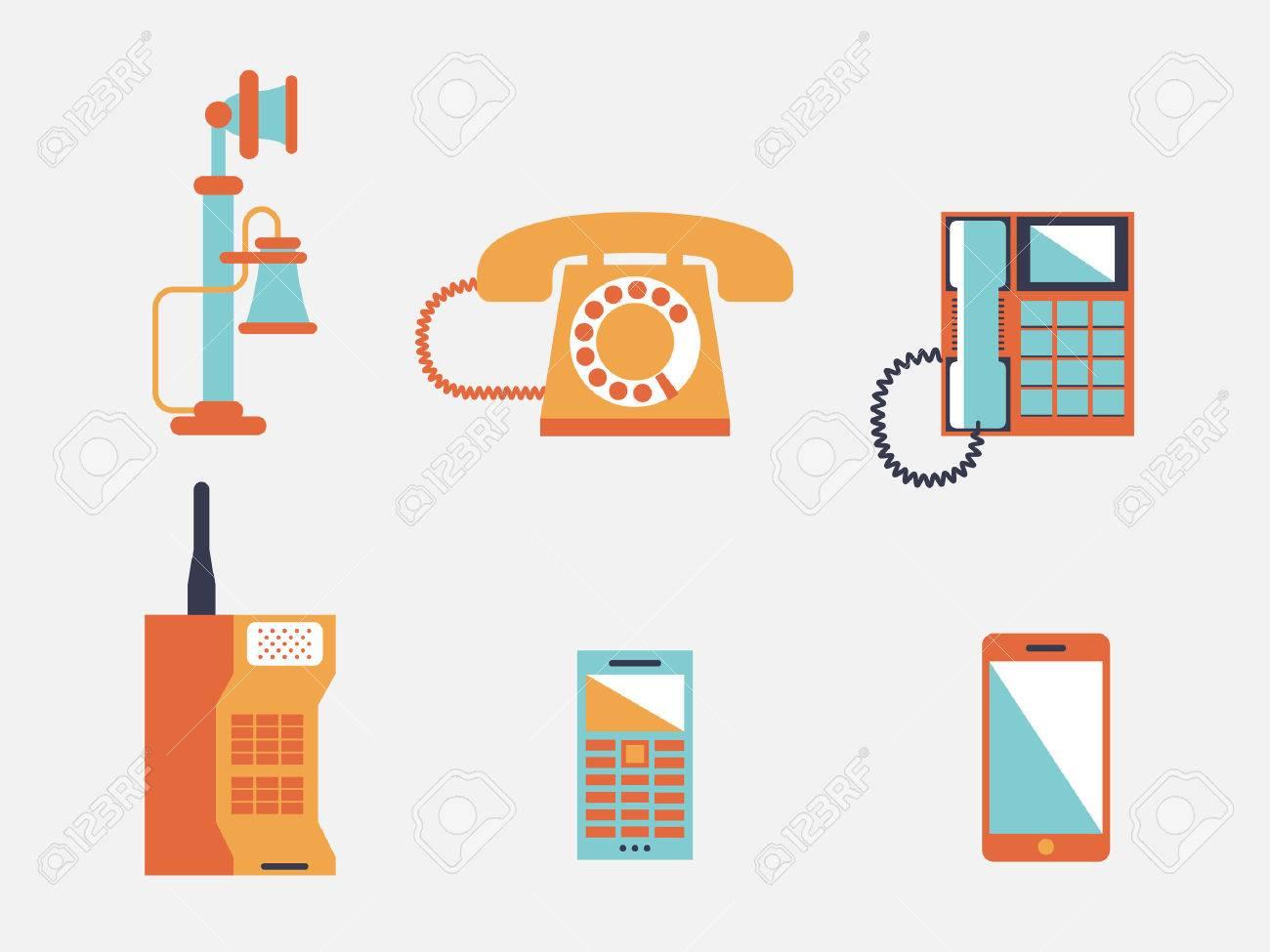 Phone icons, vector illustration - 26035969