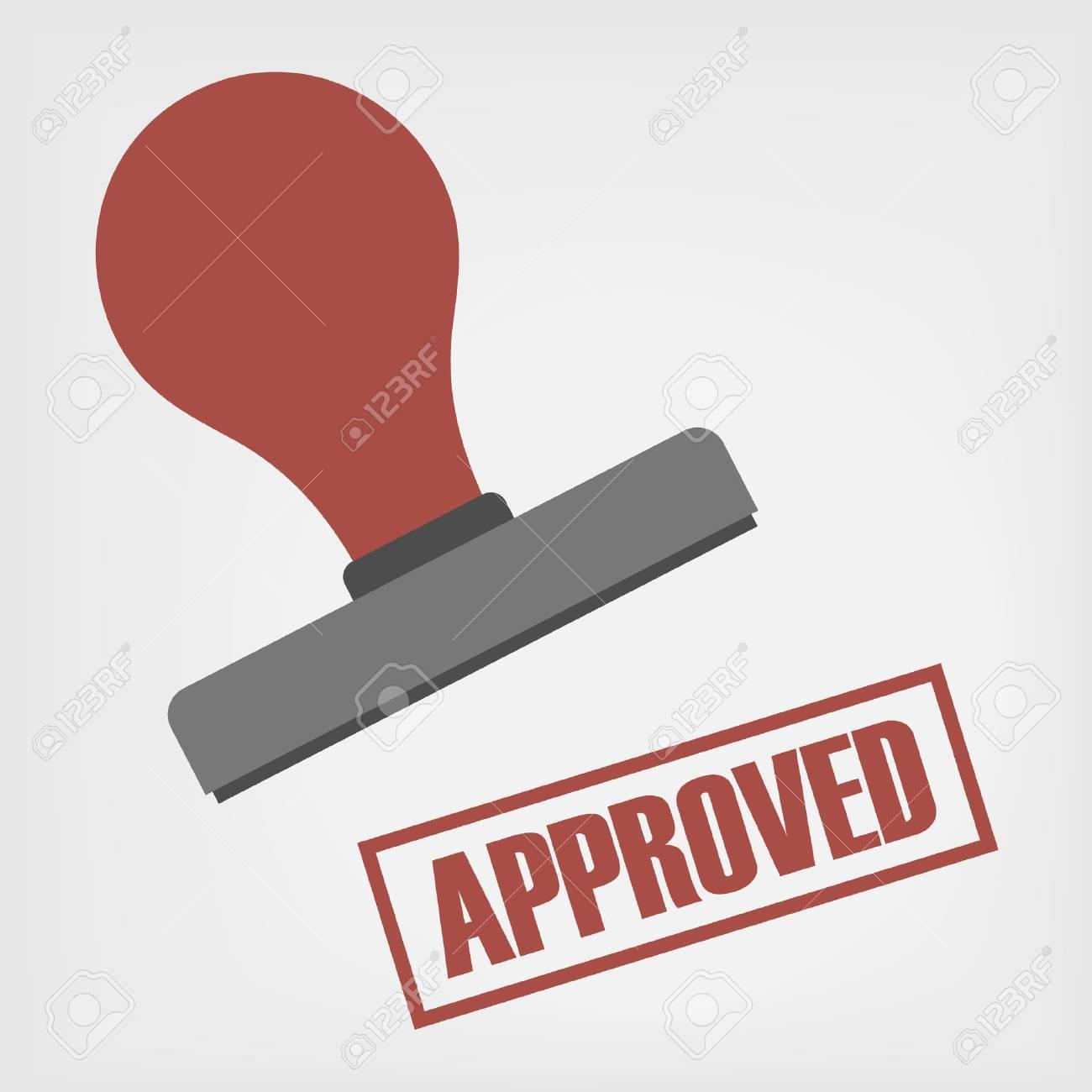 Approved stamp illustration - 26069113