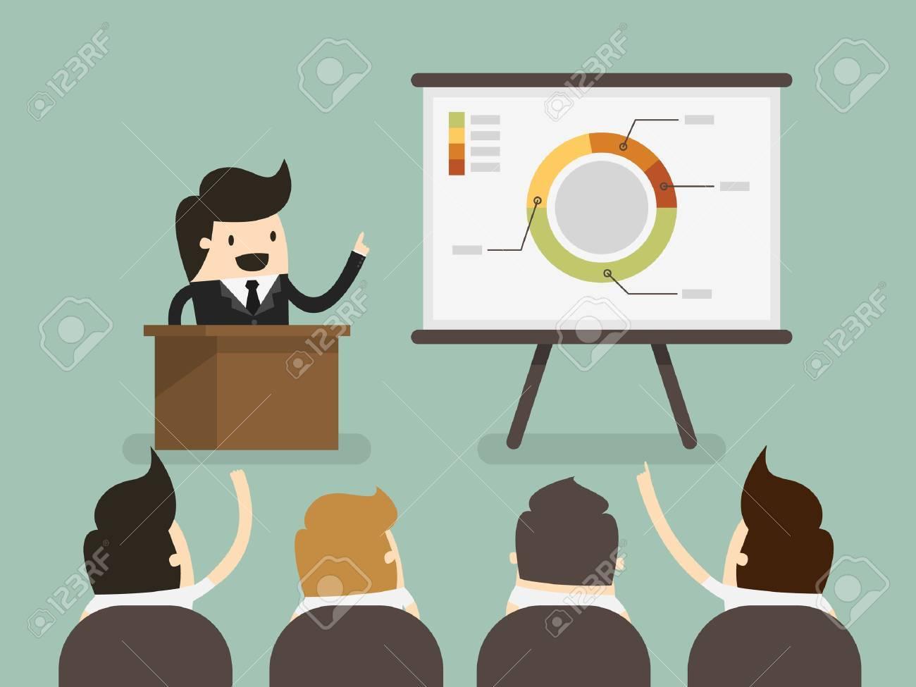 Businessman giving a presentation - 29090161