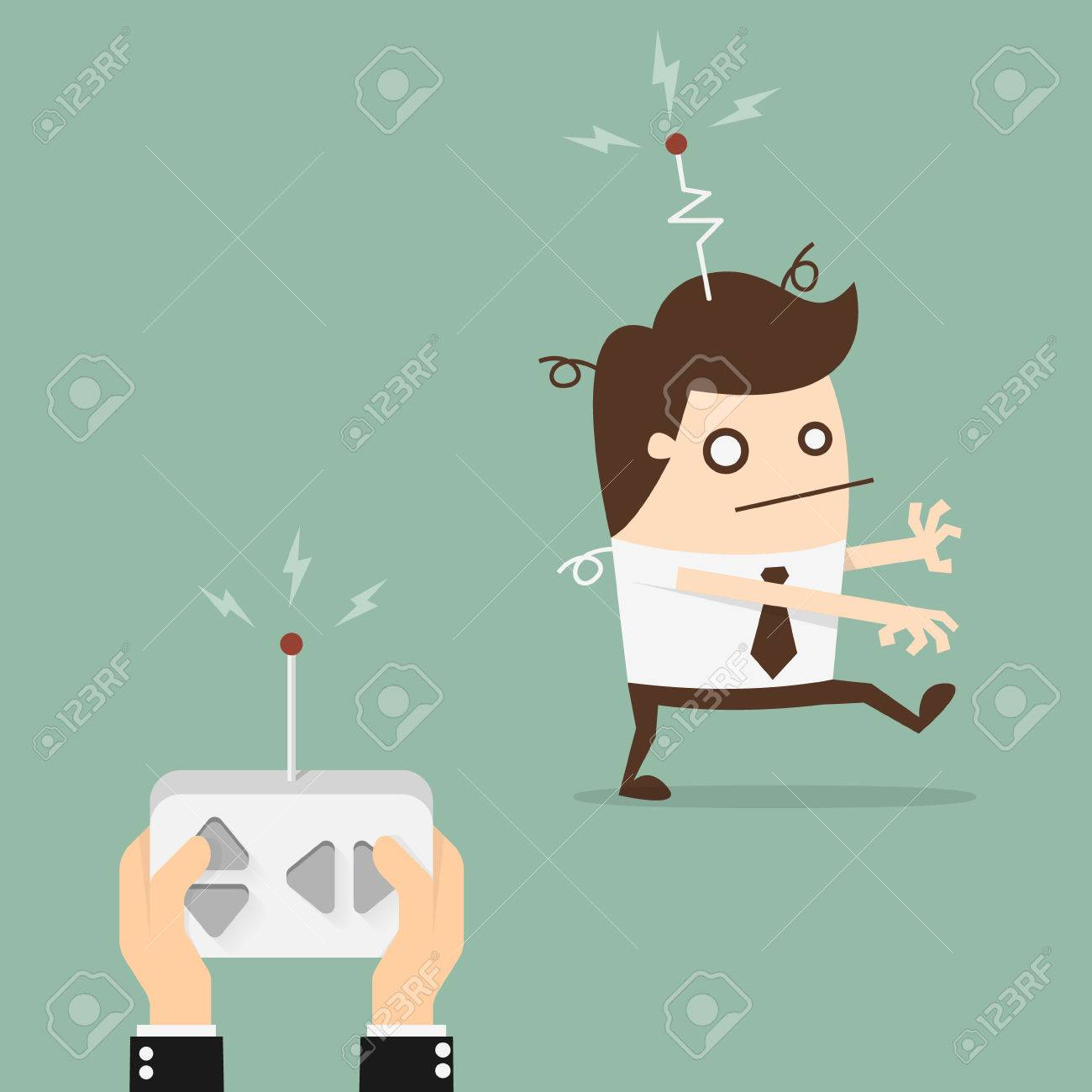 Remote control businessman - 52631369