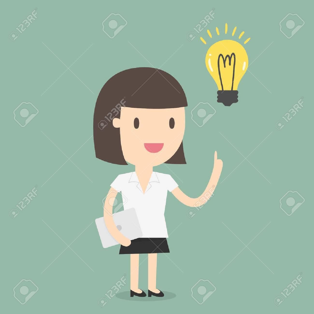Business woman get an idea - 53139086