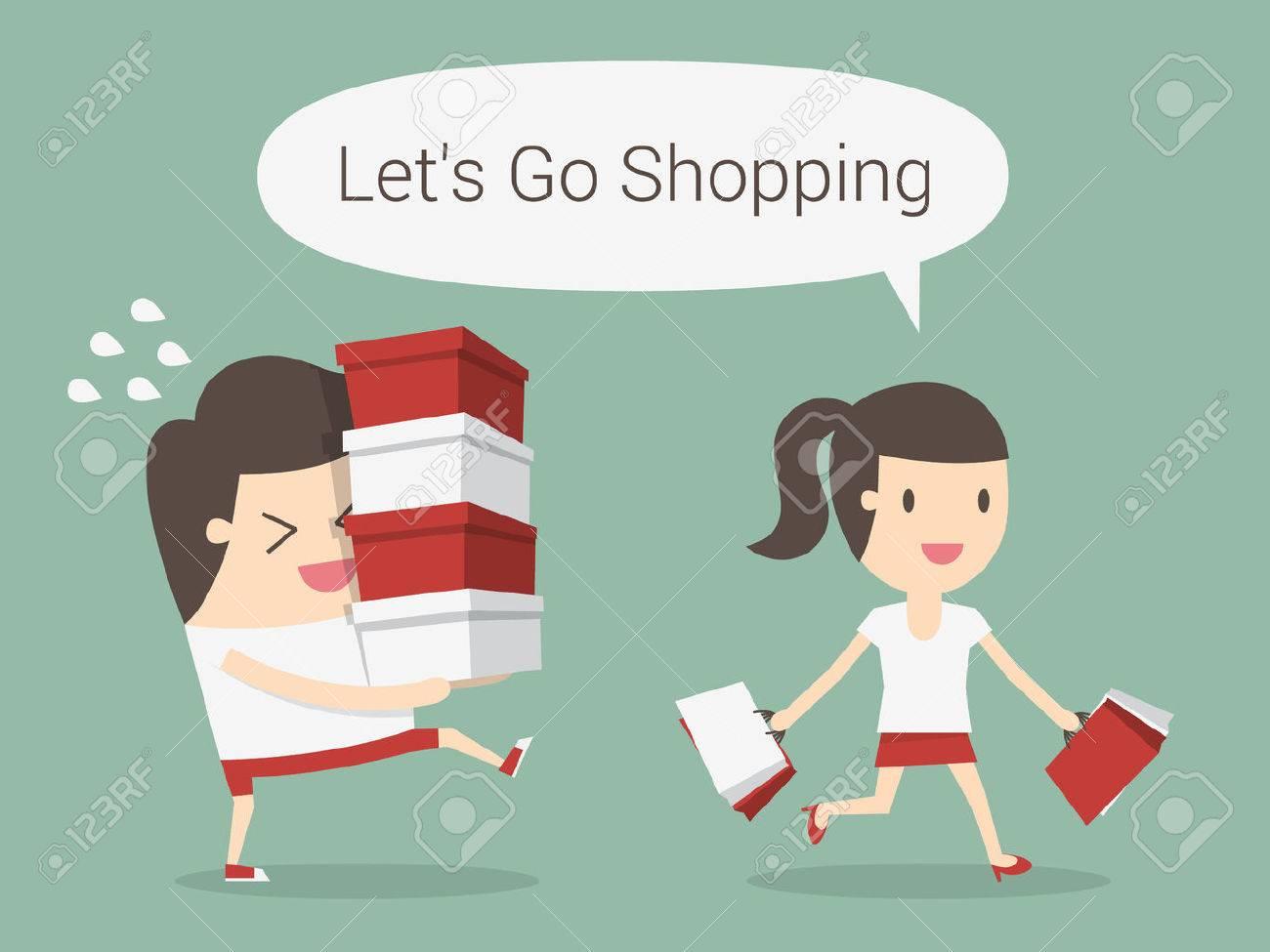 Shopping, eps 10 vector illustration - 53139093