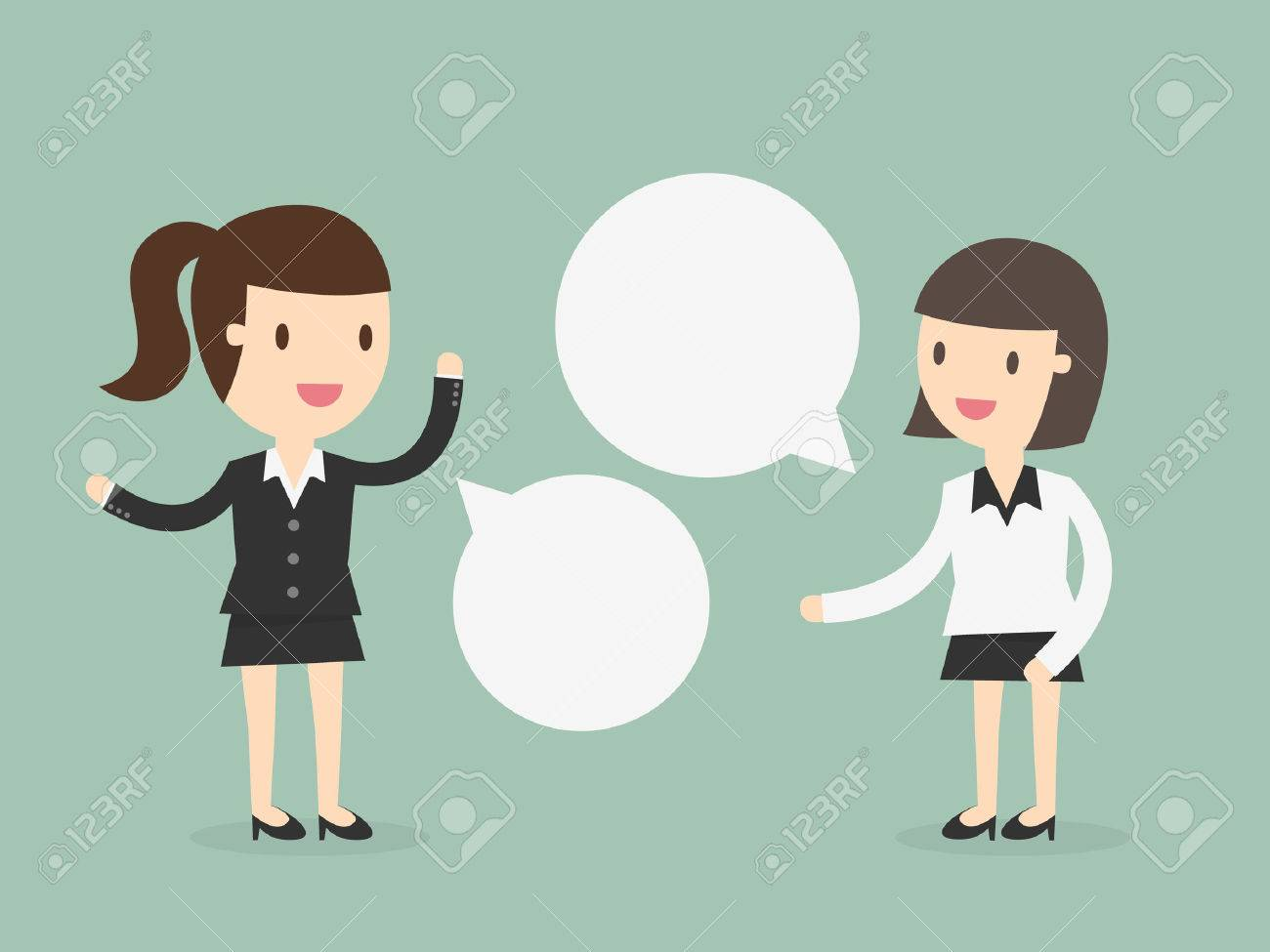 Two business women discussing - 53139152