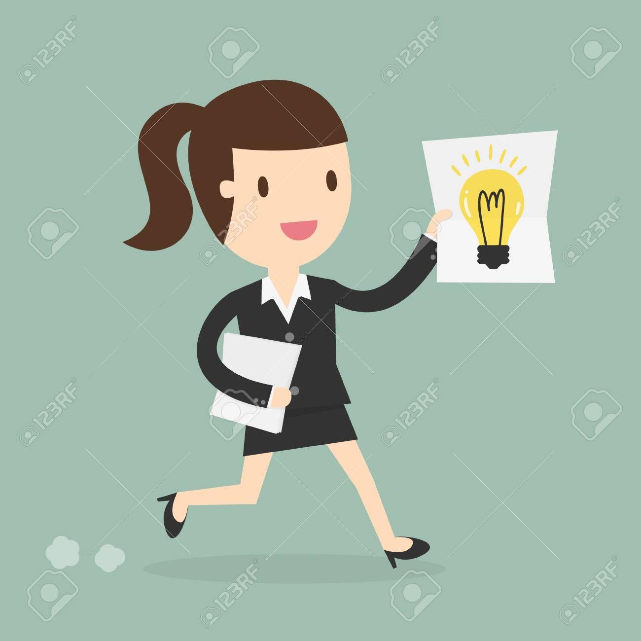 business woman showing she has an idea - 53139139