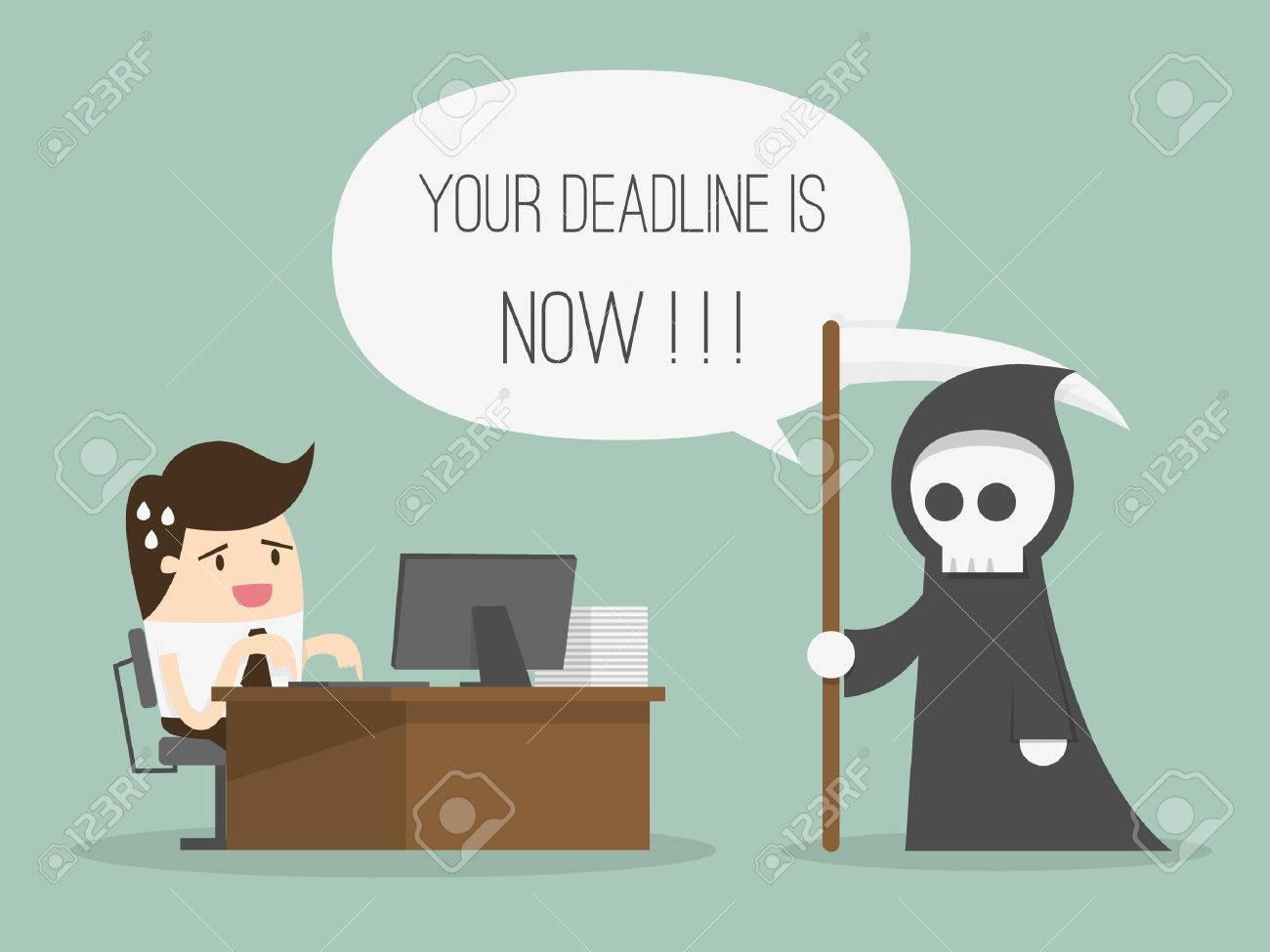 Deadline. Cartoon Vector Illustration - 53139100