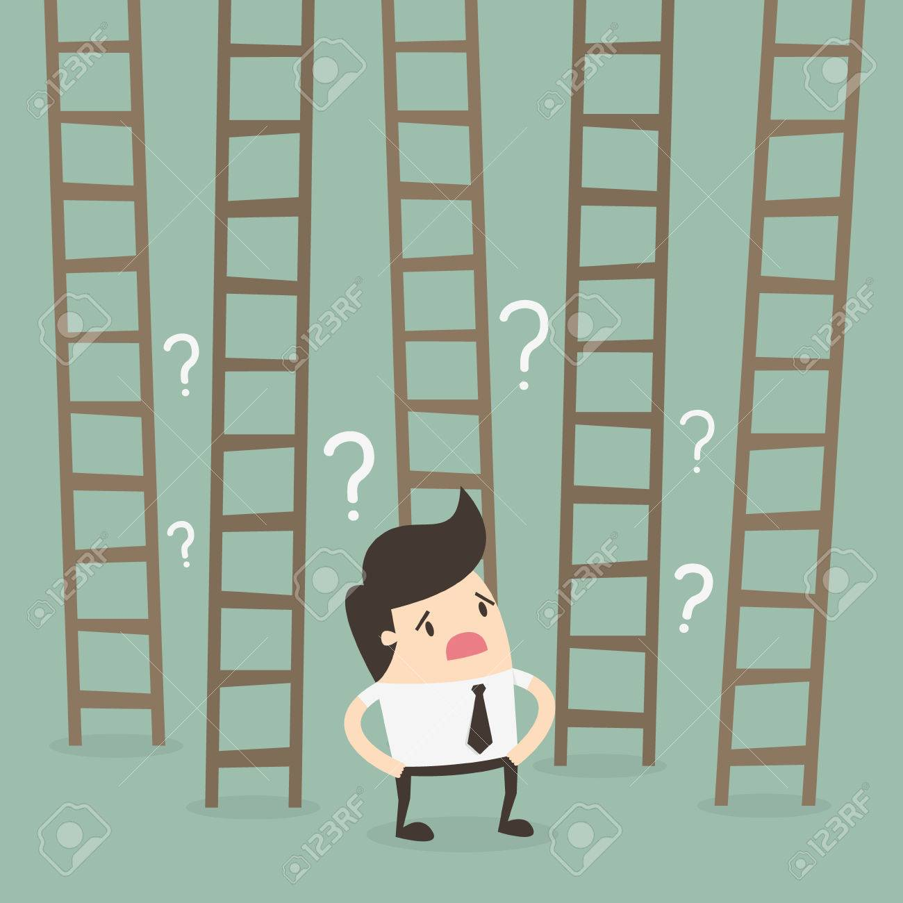Ladder to success. Business choices concept. - 53139112