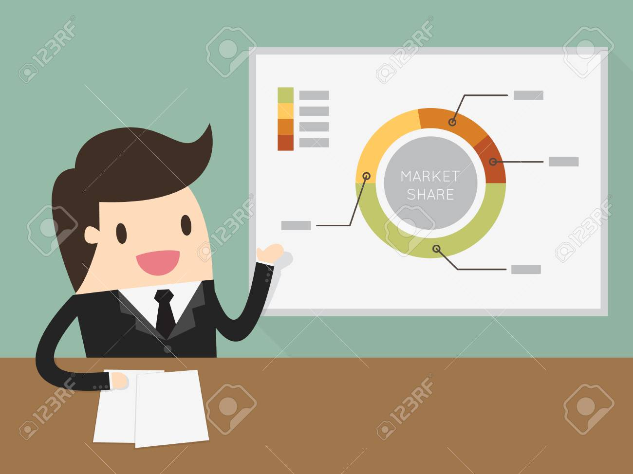 Businessman giving a presentation - 54429387