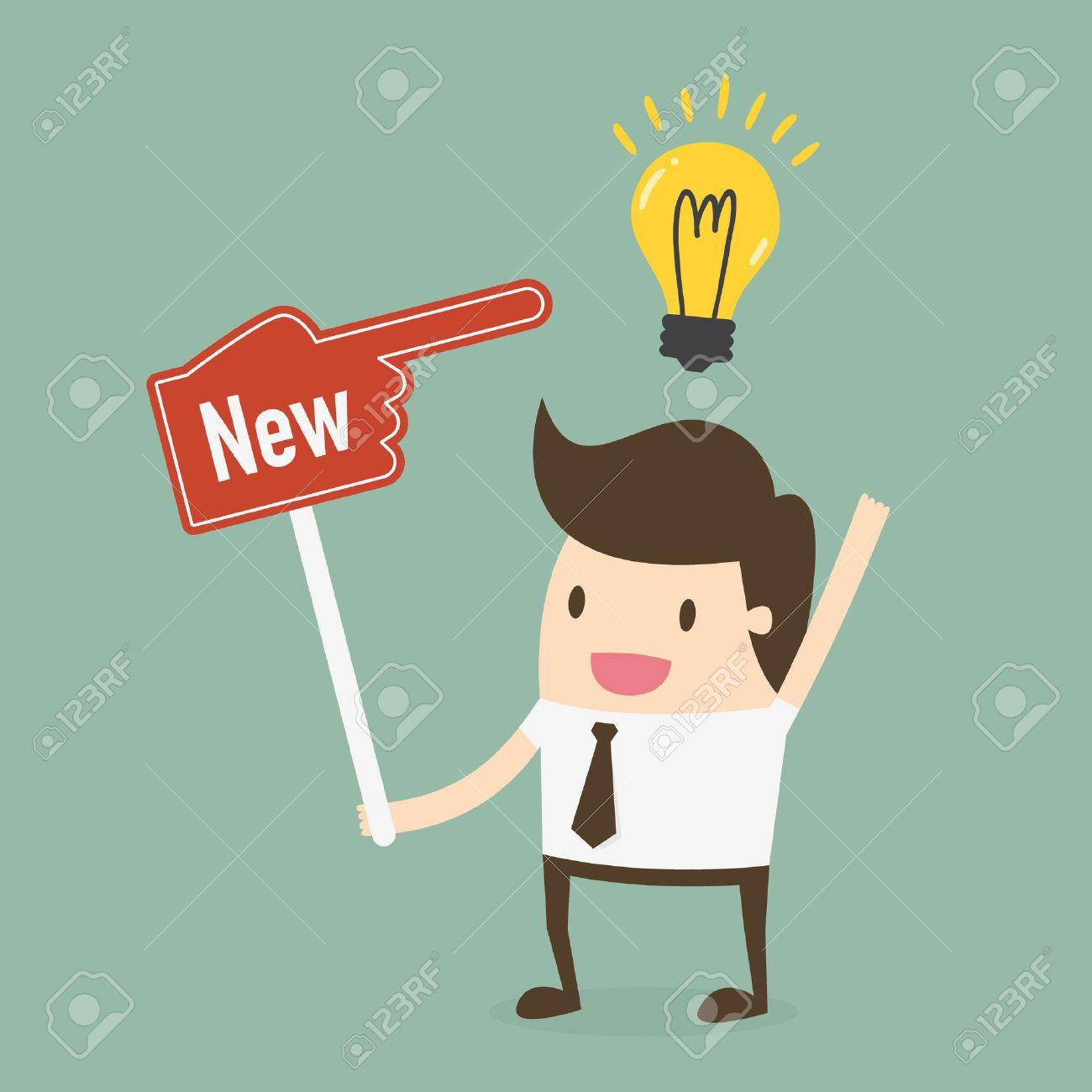 Businessman showing he has new idea - 54429646