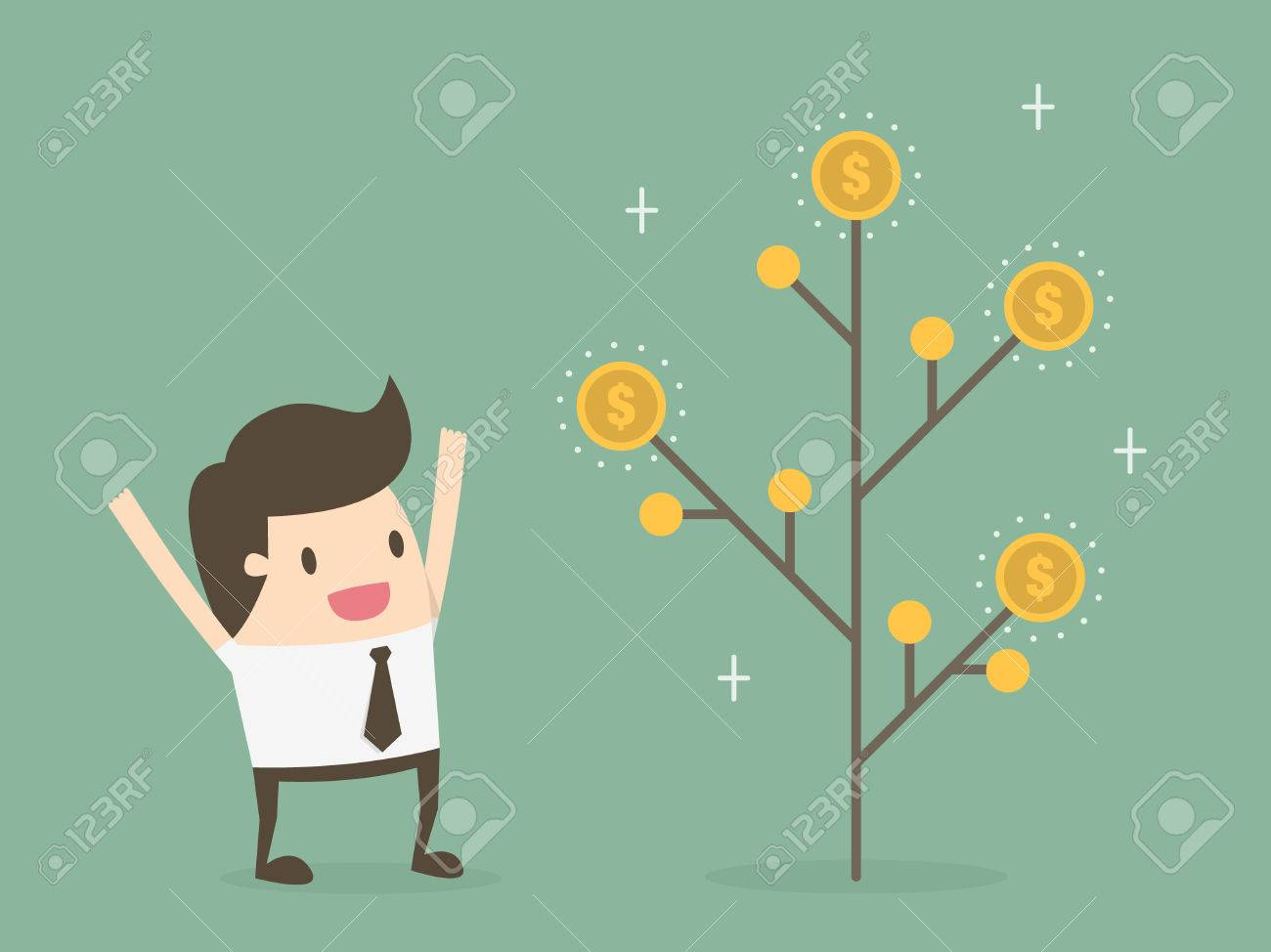 Money plant. Money growth and investment concept. - 54429703