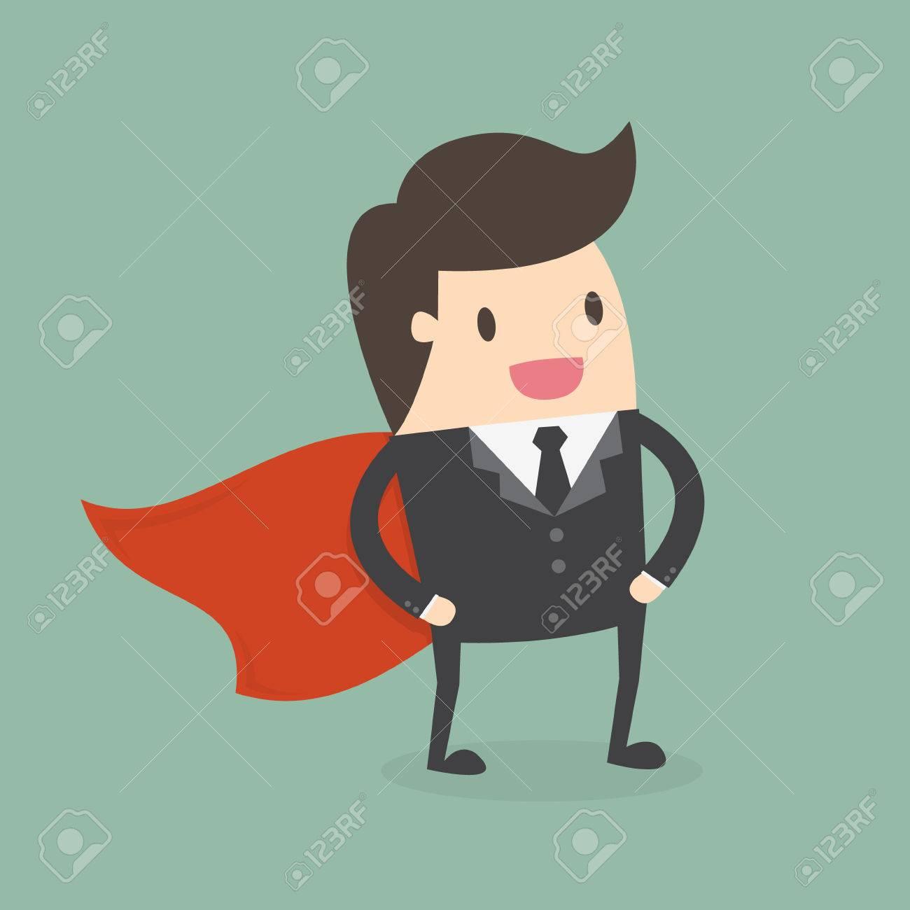 Super Businessman. Business concept illustration. - 55512338